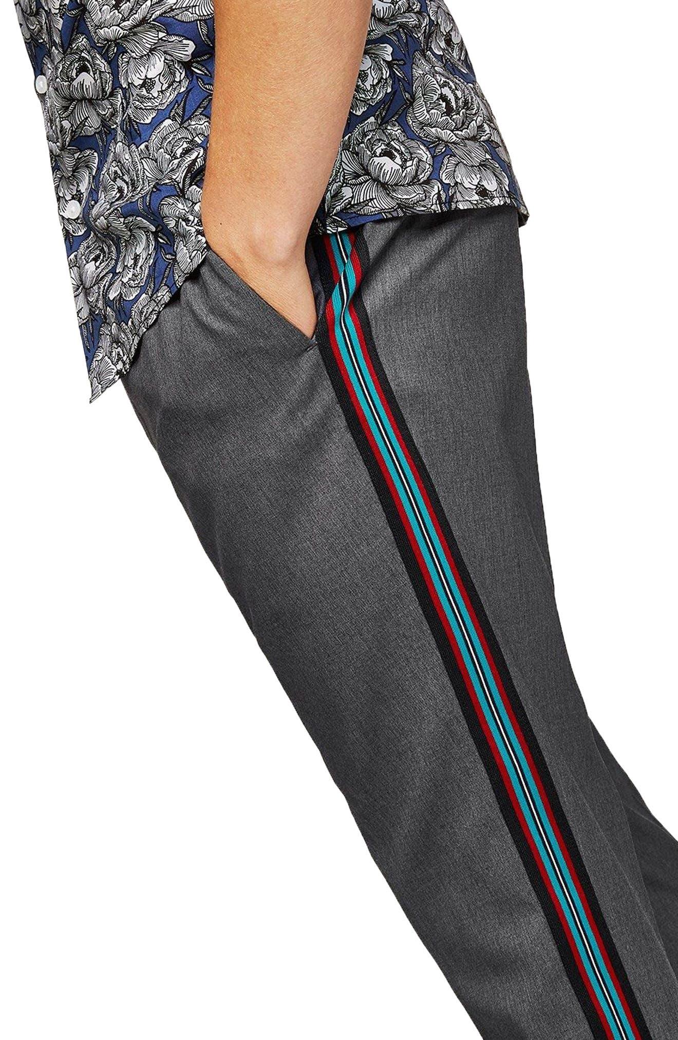 Mélange Slim Jogger Pants,                             Alternate thumbnail 3, color,                             020