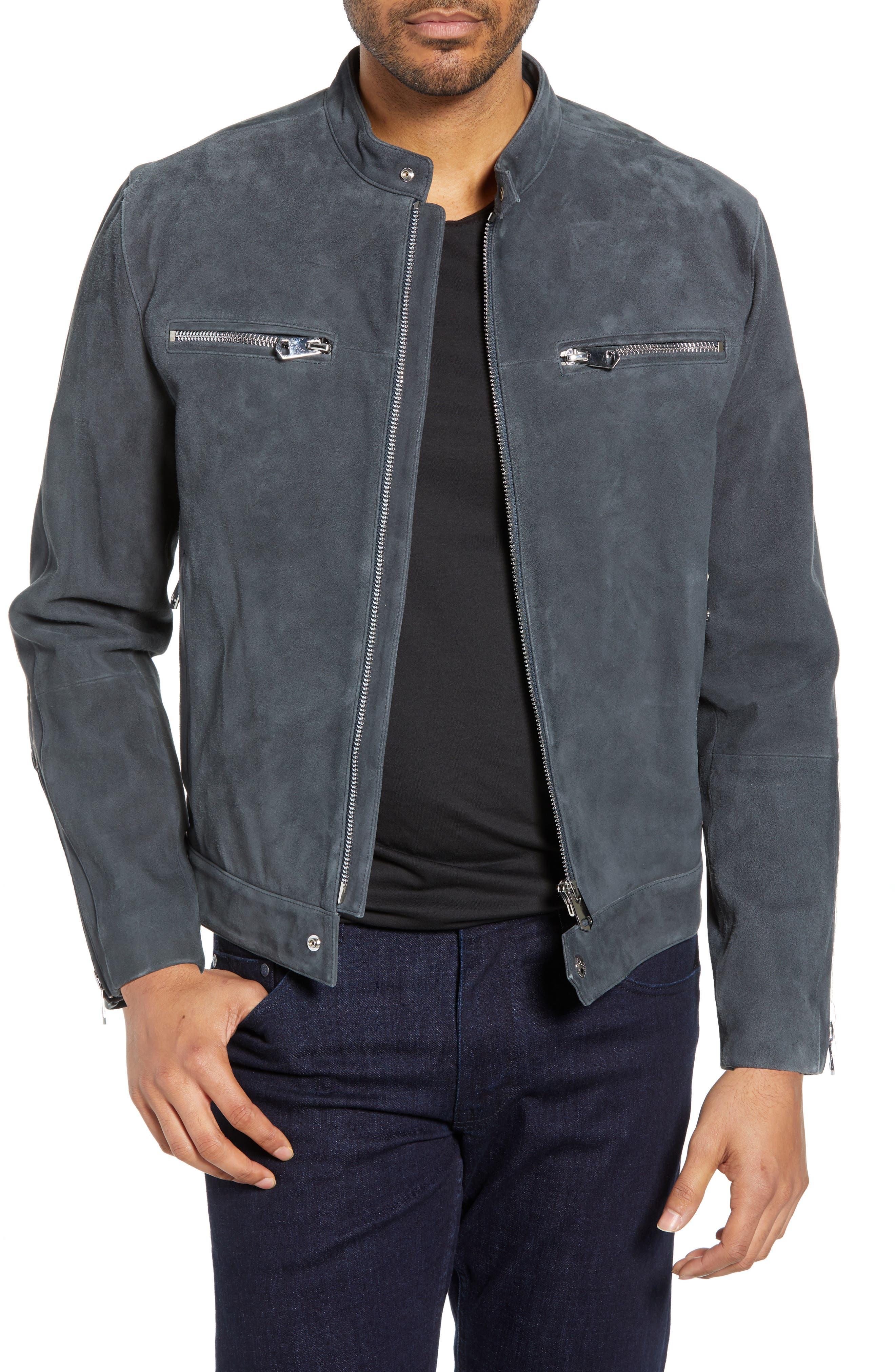 Robert Graham Marnetas Classic Fit Suede Jacket, Grey