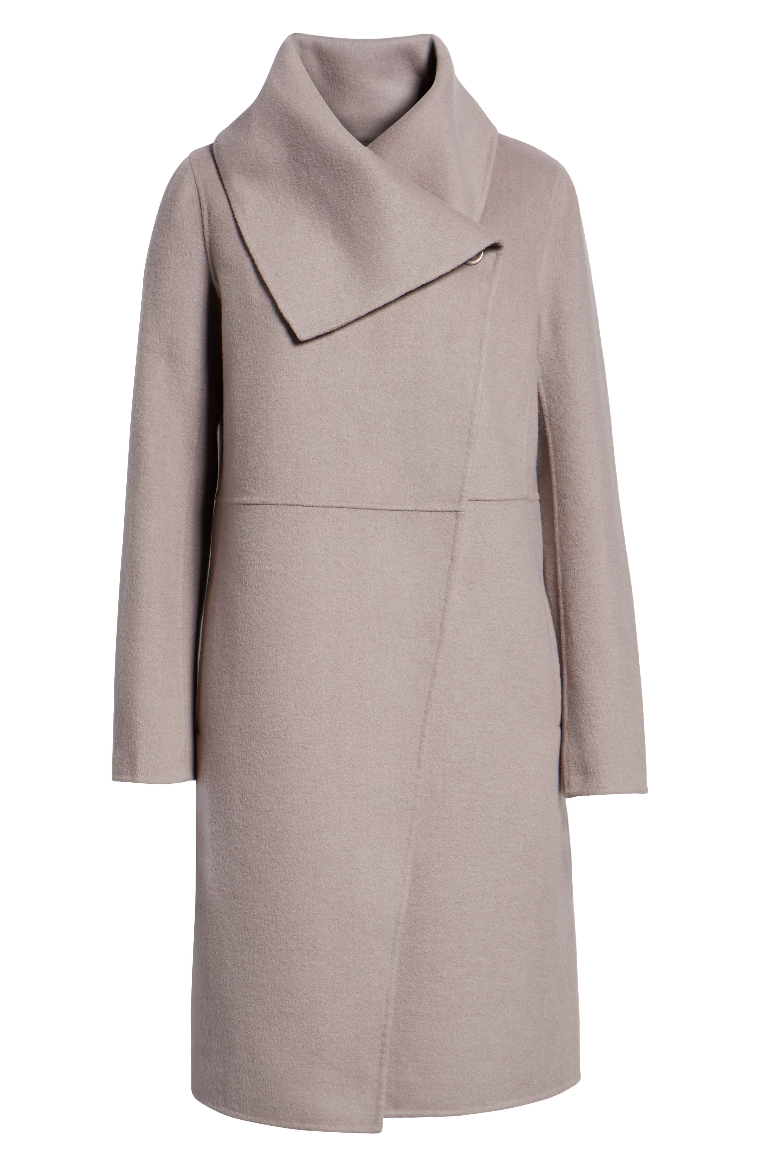 Double Faced Shawl Coat,                             Alternate thumbnail 6, color,                             420