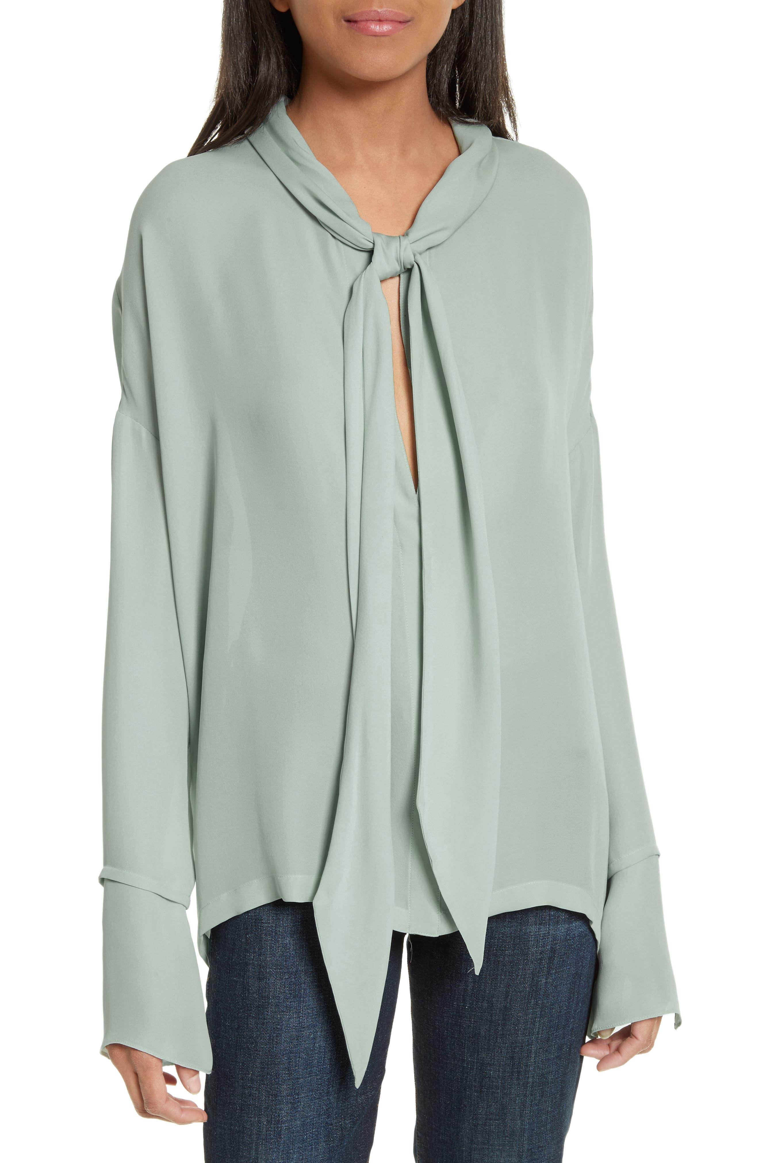 Silk Scarf Shirt,                         Main,                         color, 392