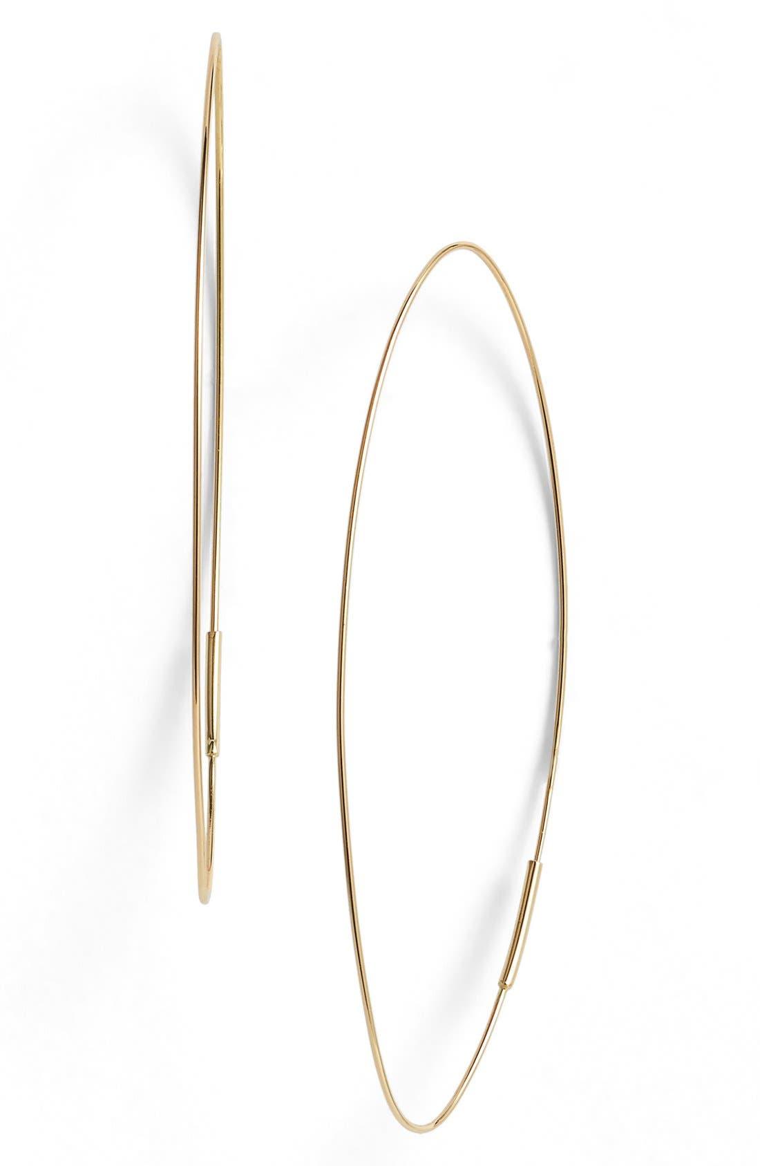 'Magic' Large Oval Hoop Earrings,                             Main thumbnail 1, color,                             YELLOW GOLD