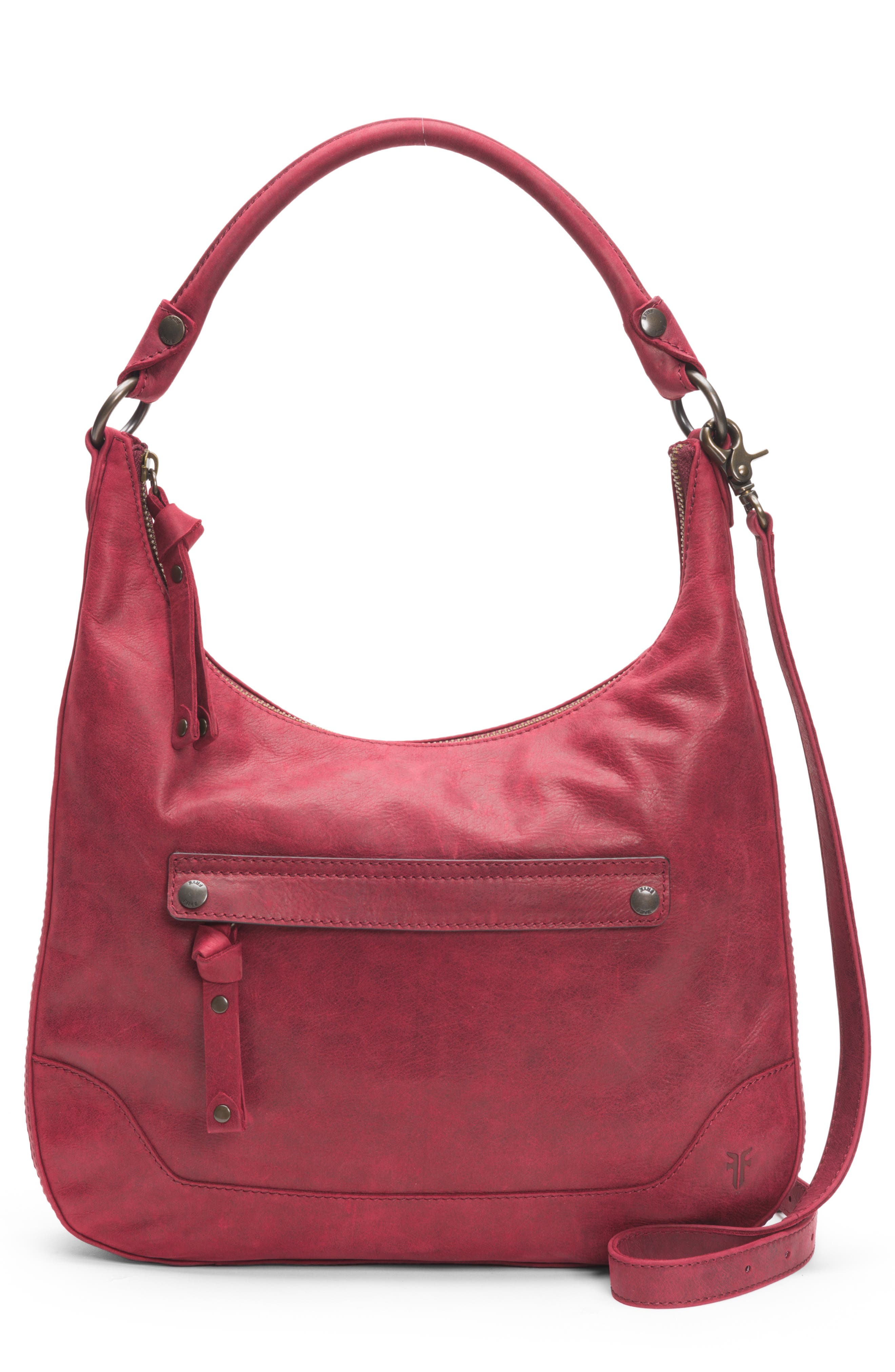 Melissa Large Leather Hobo,                             Main thumbnail 1, color,                             604