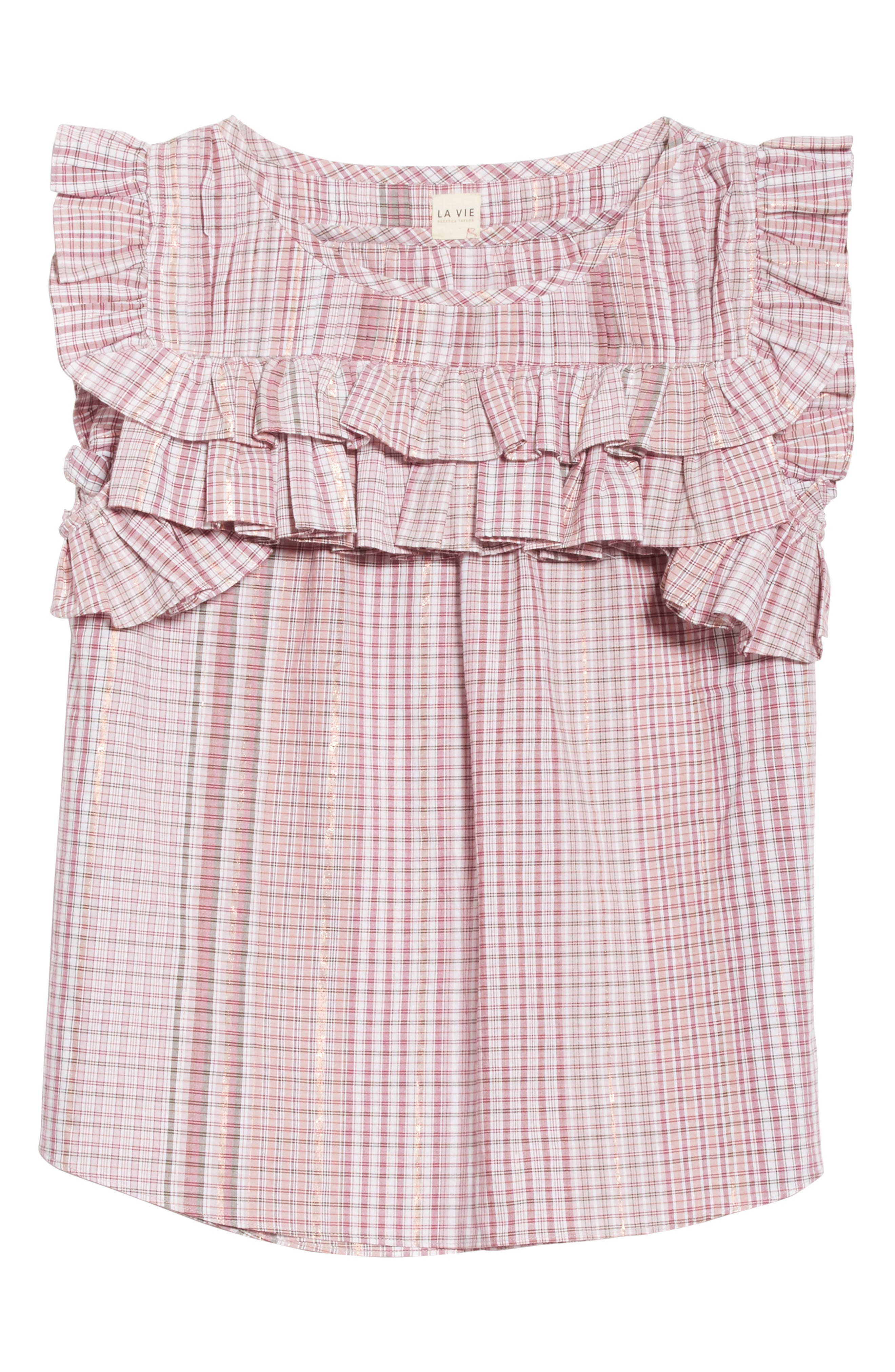 Lurex<sup>®</sup> Plaid Top,                             Alternate thumbnail 6, color,