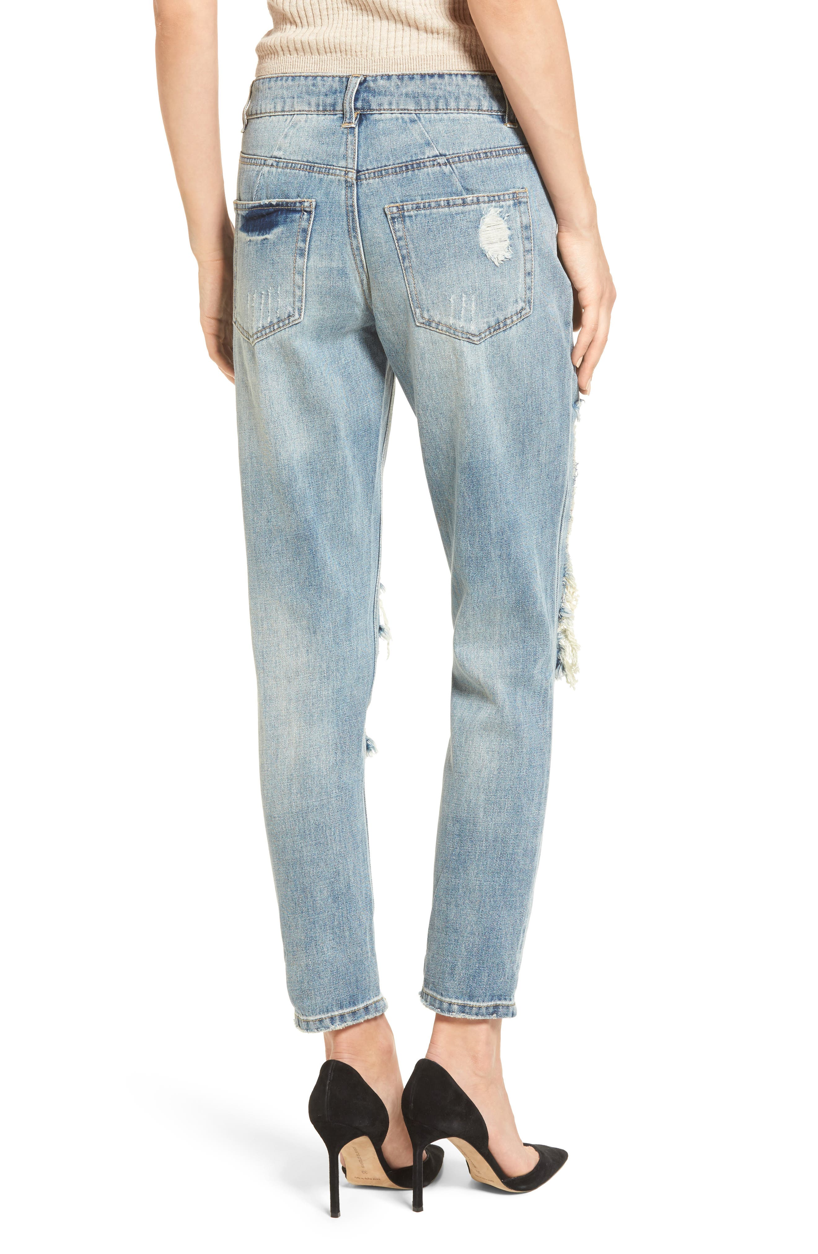 Cyrus High Waist Ankle Jeans,                             Alternate thumbnail 2, color,                             SINNER WASH