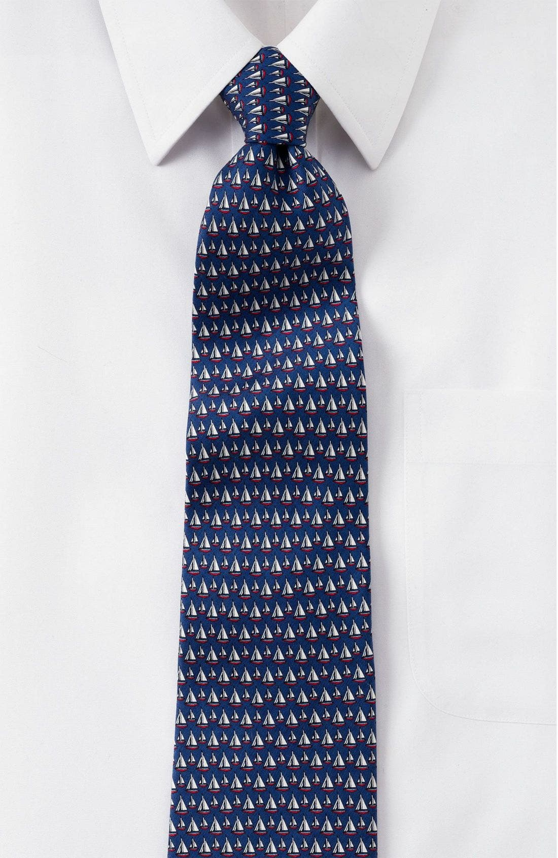 Print Silk Tie,                             Main thumbnail 2, color,