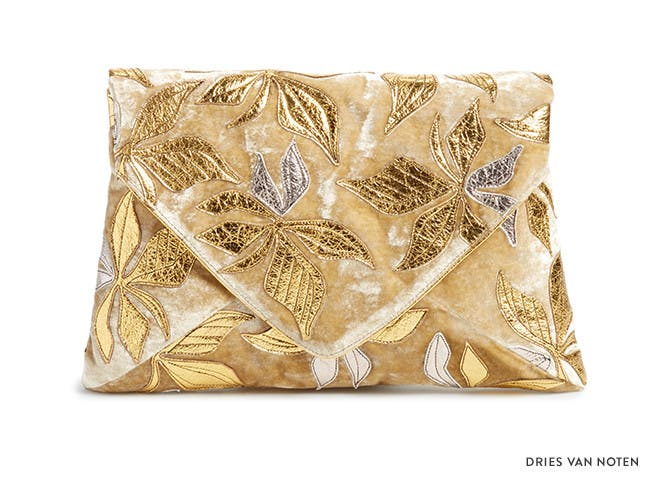 Need now: day glow. Metallic handbag trend from Dries Van Noten and more.