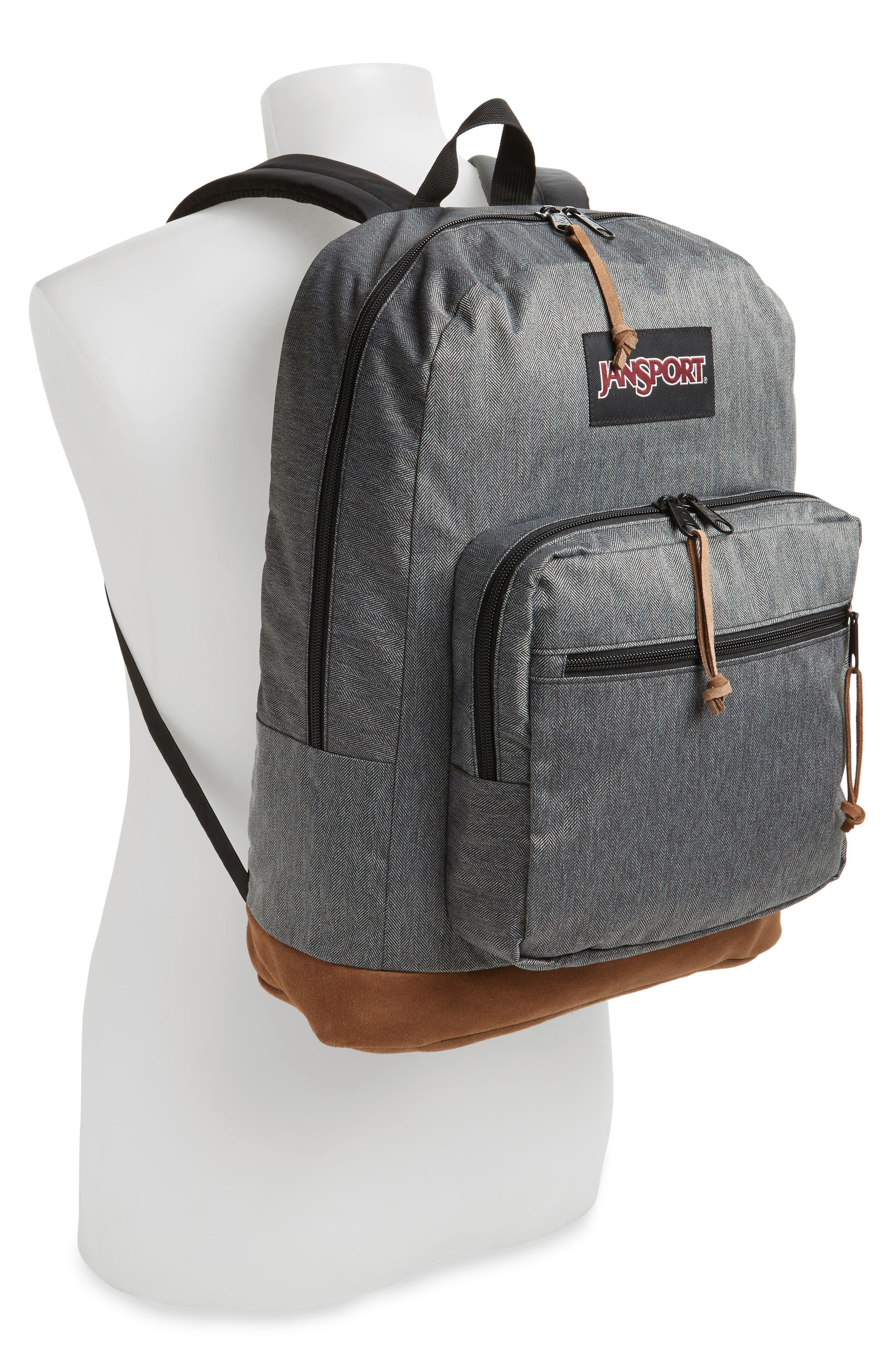 'Right Pack' Backpack,                             Alternate thumbnail 2, color,                             BLACK/ WHITE