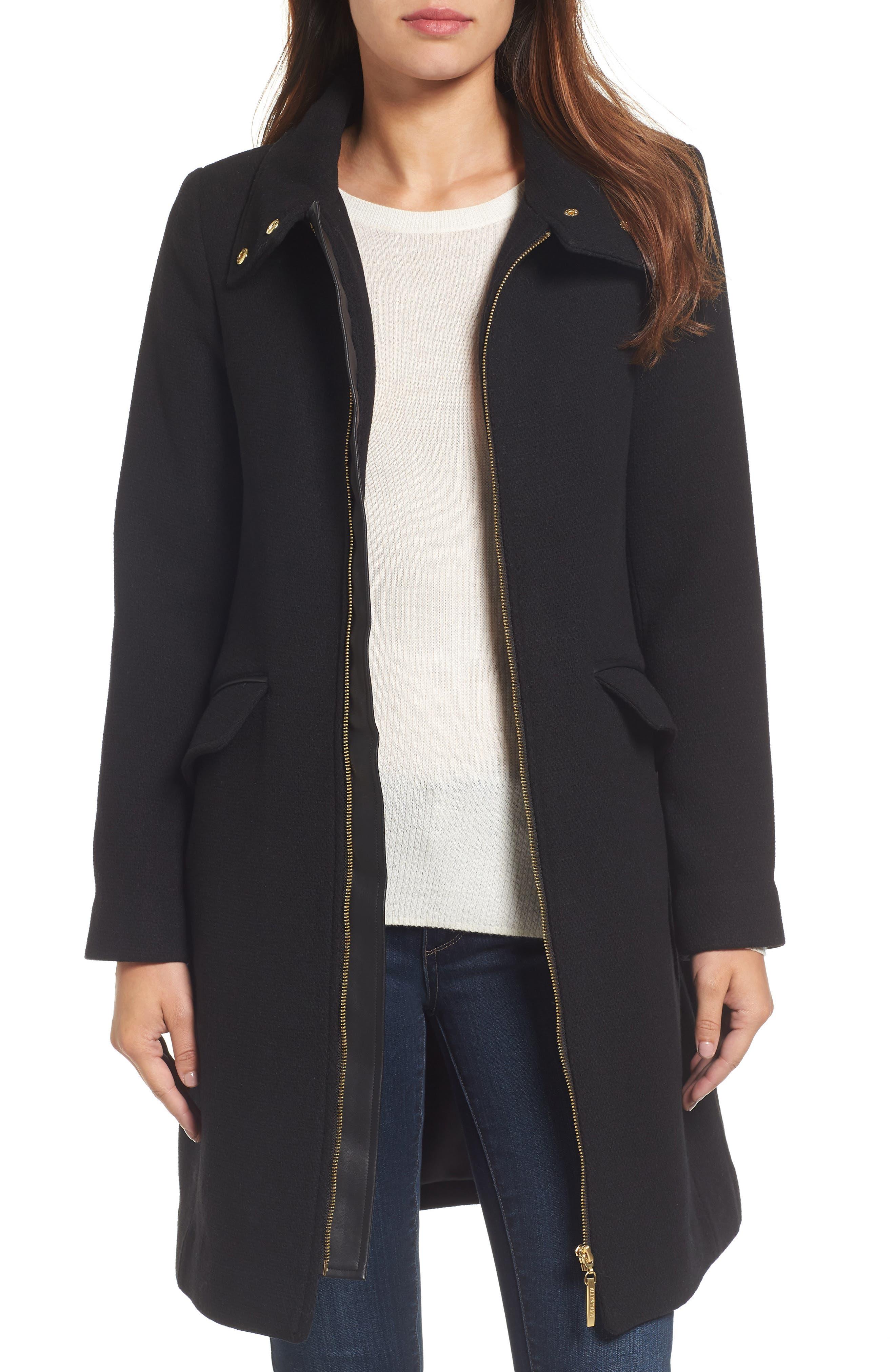 ELLEN TRACY A-Line Coat, Main, color, 001