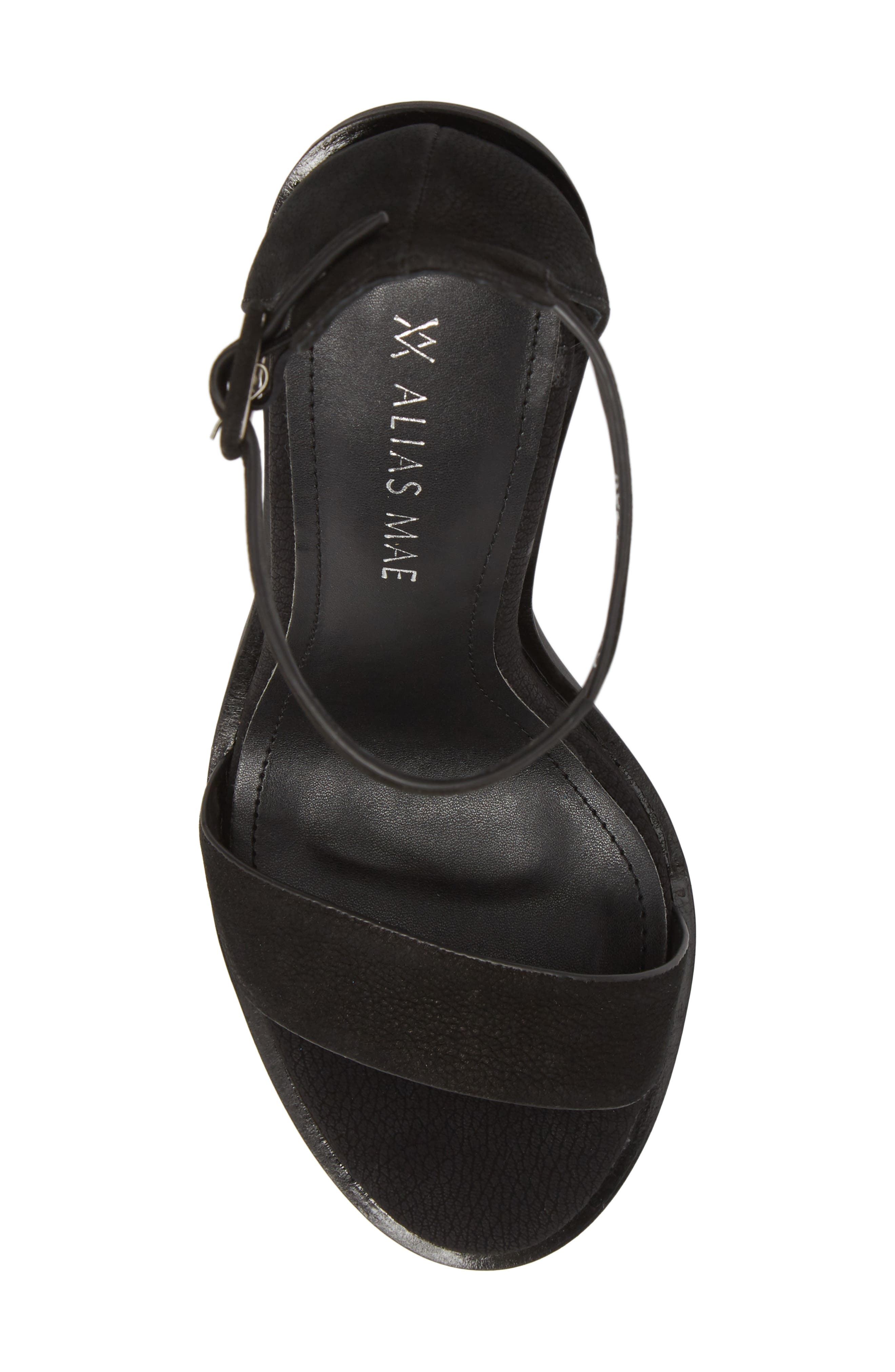 Addax Sandal,                             Alternate thumbnail 5, color,                             BLACK NUBUCK LEATHER