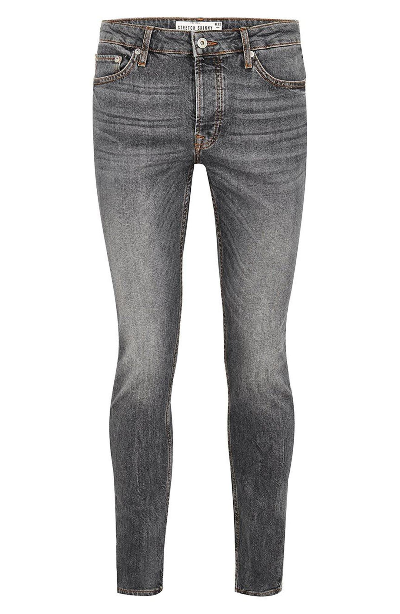 Stretch Skinny Fit Jeans,                             Alternate thumbnail 4, color,                             020