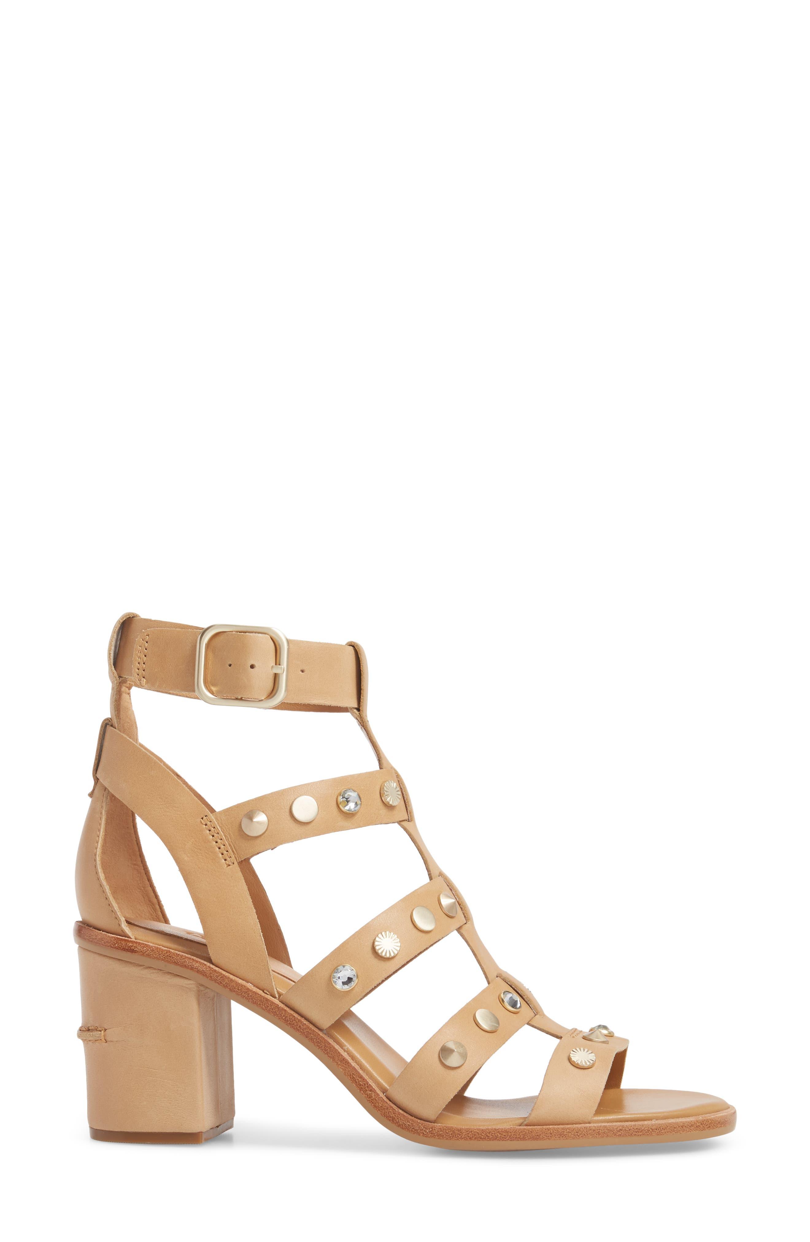 Macayla Studded Sandal,                             Alternate thumbnail 6, color,
