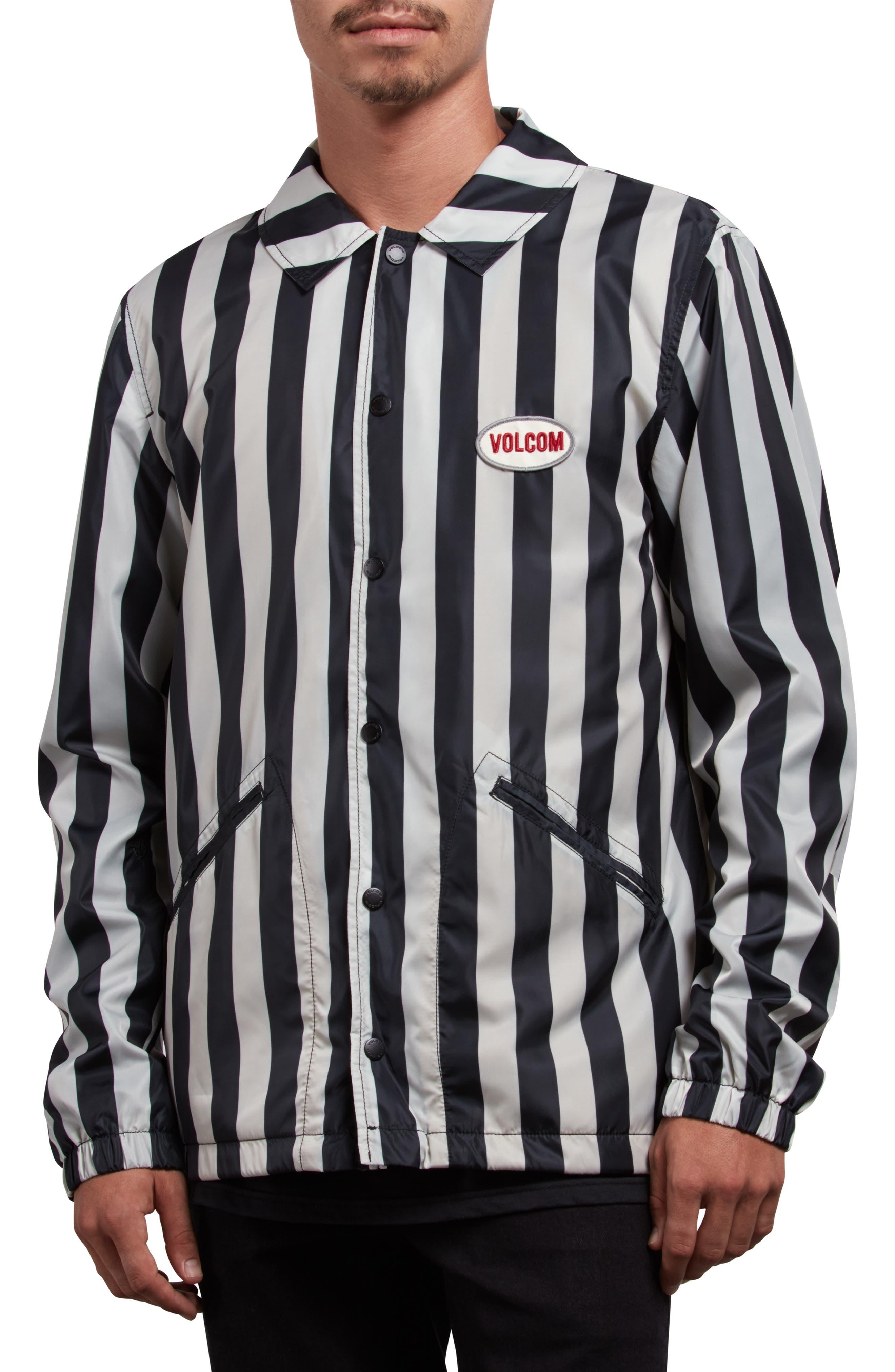 Brews Coach's Jacket,                             Alternate thumbnail 4, color,                             BLACK WHITE