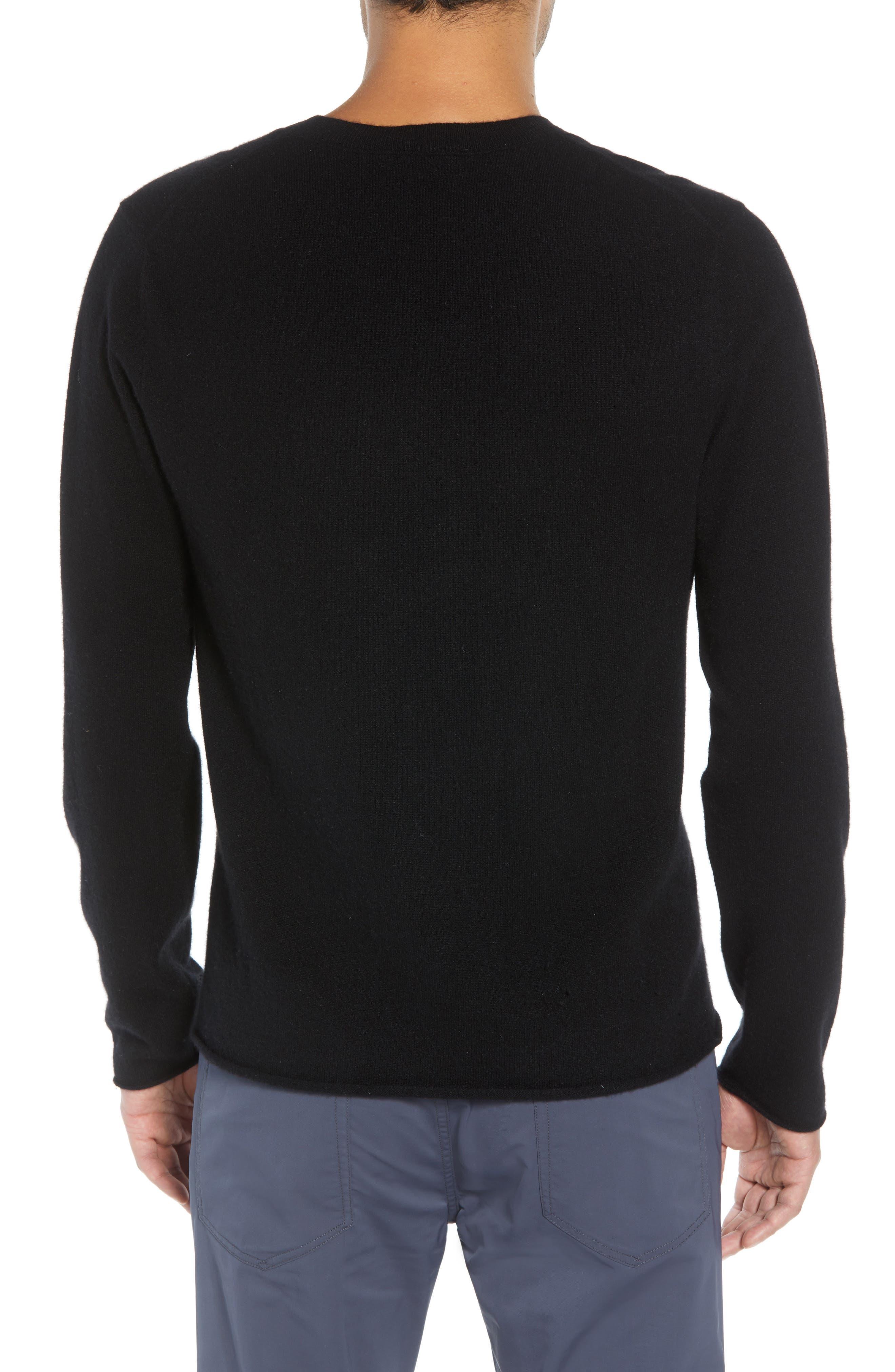 Regular Fit Cashmere Sweater,                             Alternate thumbnail 2, color,                             BLACK