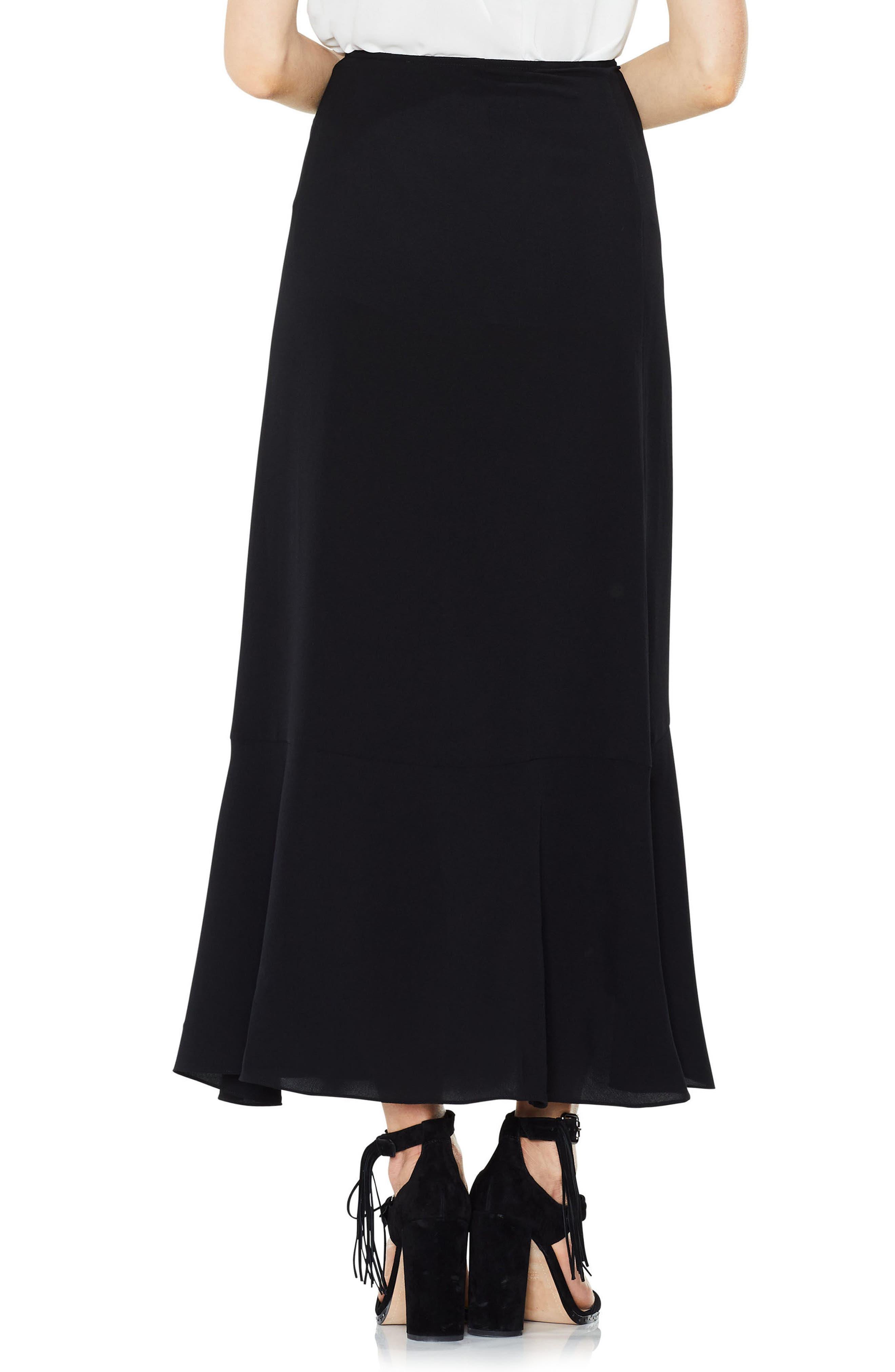 Ruffle Faux Wrap Skirt,                             Alternate thumbnail 2, color,                             010