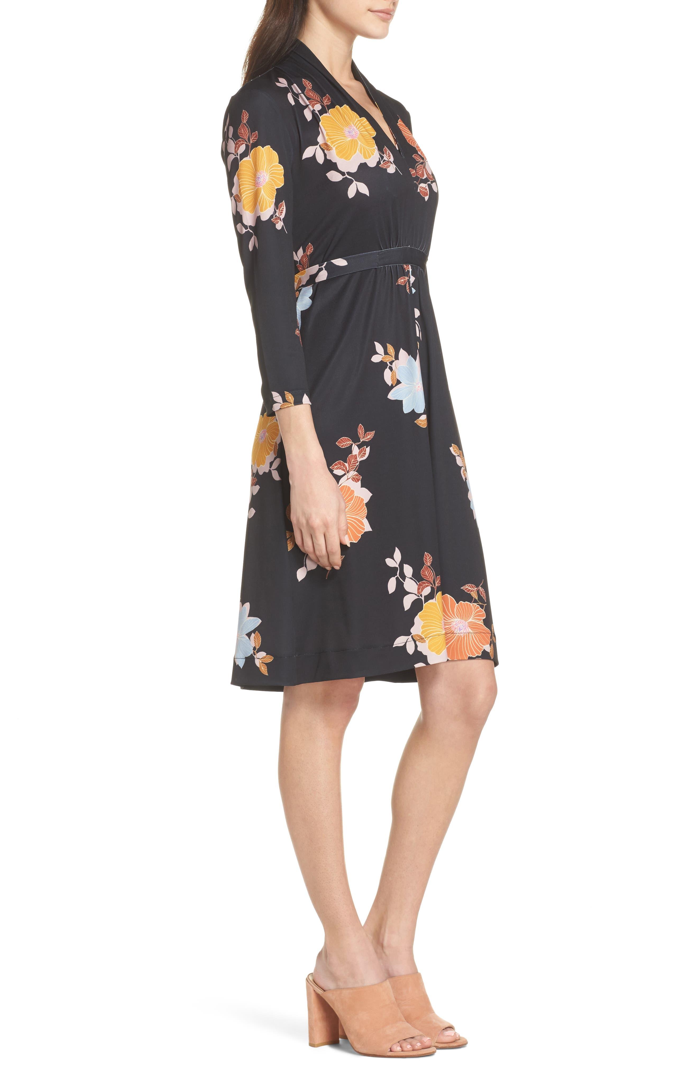 Shikoku Floral Dress,                             Alternate thumbnail 3, color,                             015