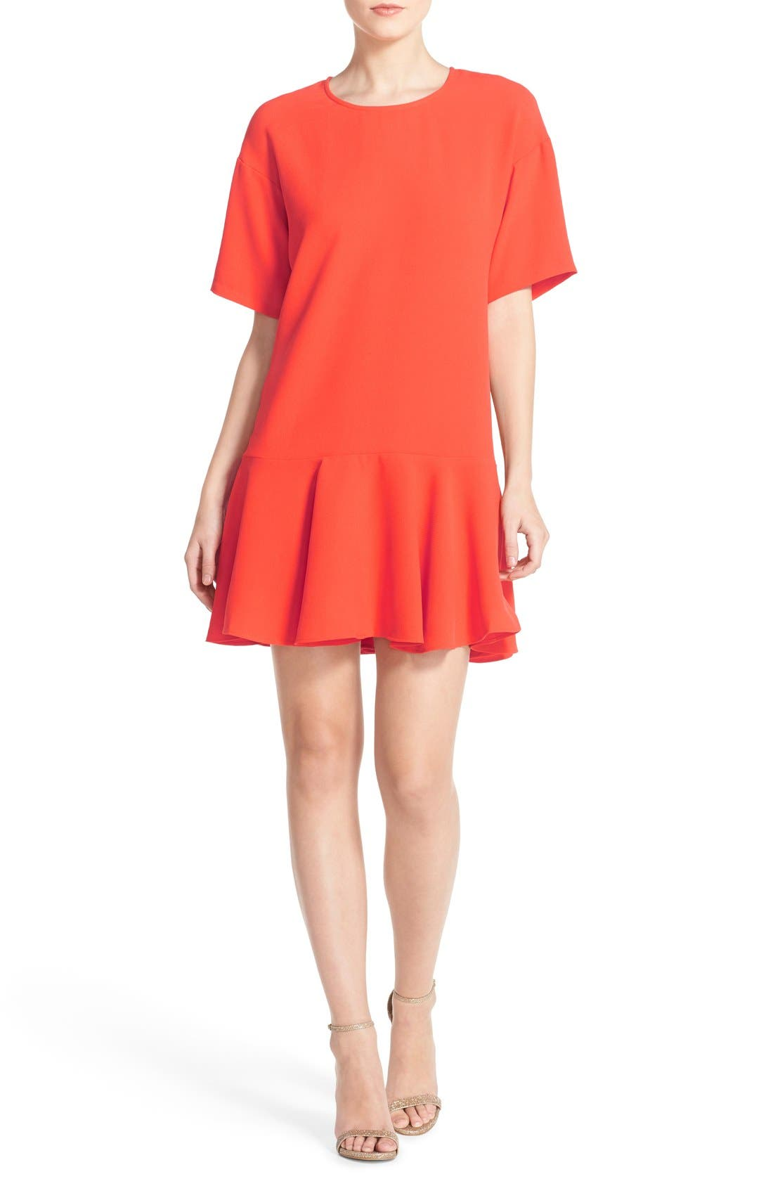 Drop Waist Knit Dress,                             Alternate thumbnail 9, color,