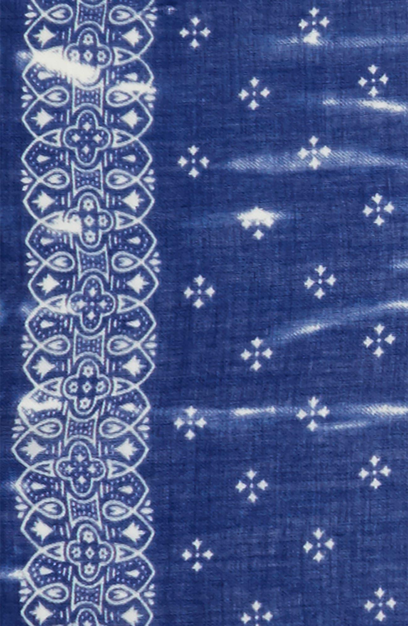 Wool Bandana Scarf,                             Alternate thumbnail 3, color,                             414