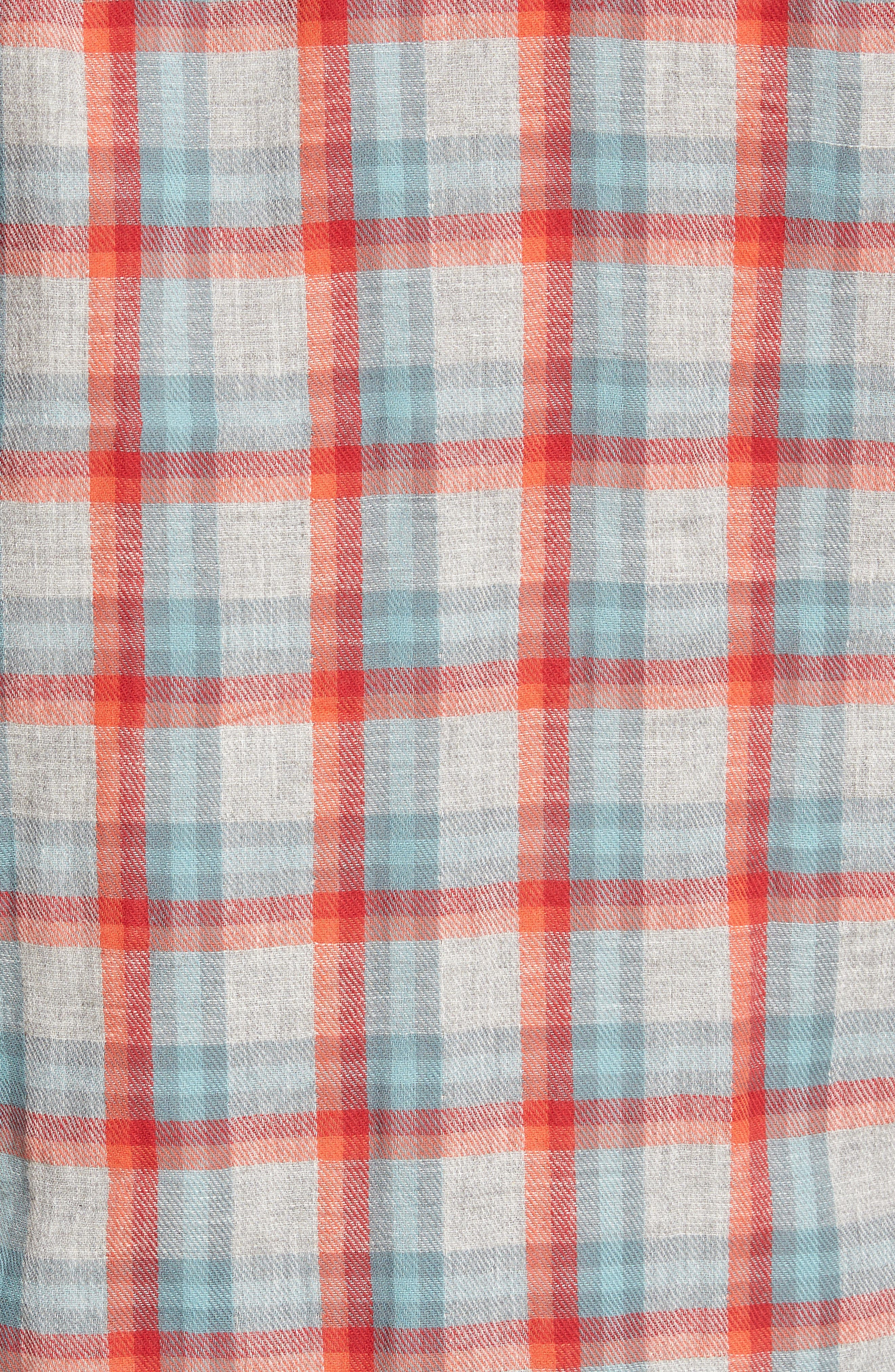 Sherman Modern Fit Double Cloth Windowpane Sport Shirt,                             Alternate thumbnail 5, color,