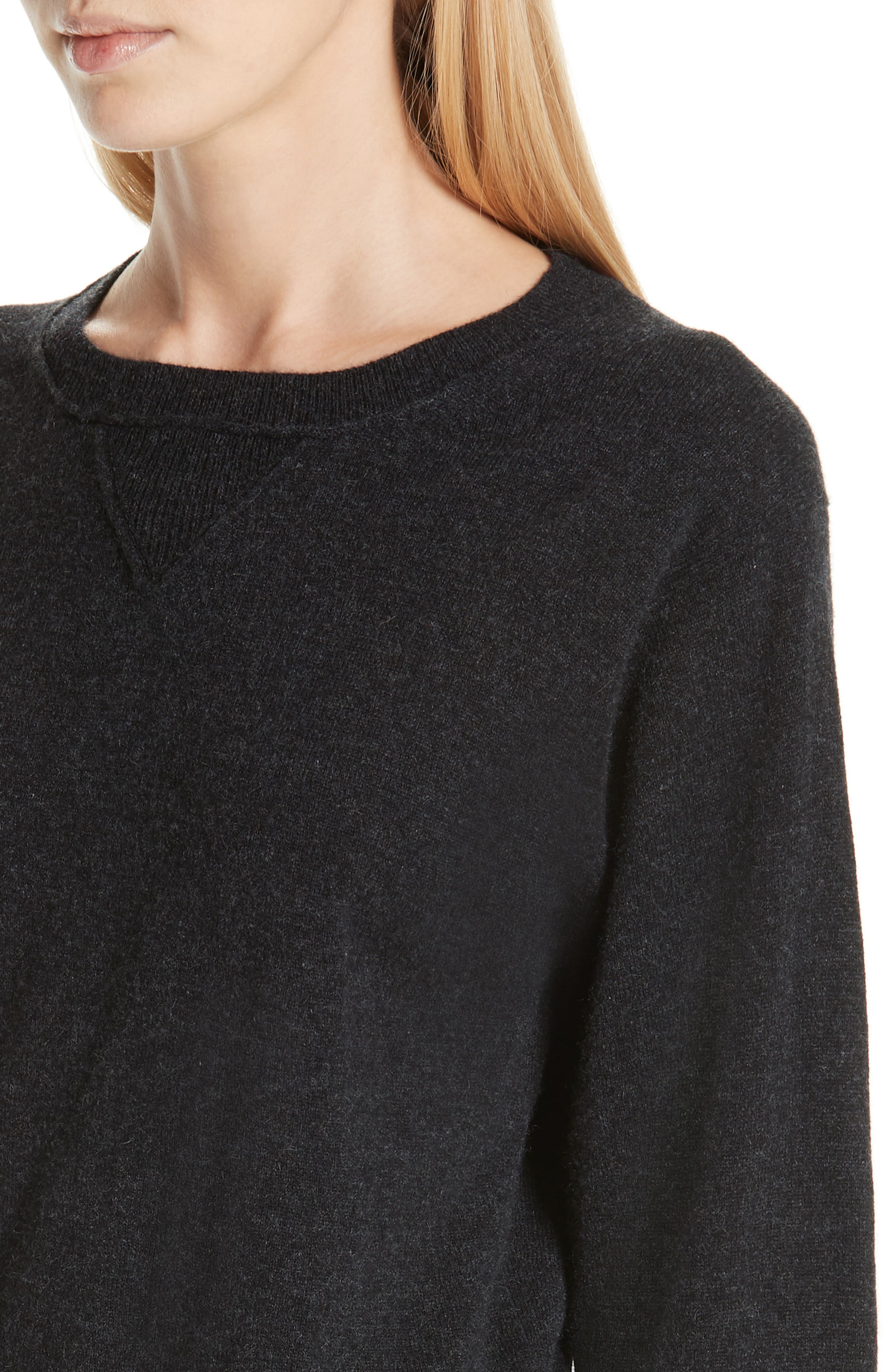 Wool & Cashmere Sweater,                             Alternate thumbnail 4, color,                             CHARCOAL