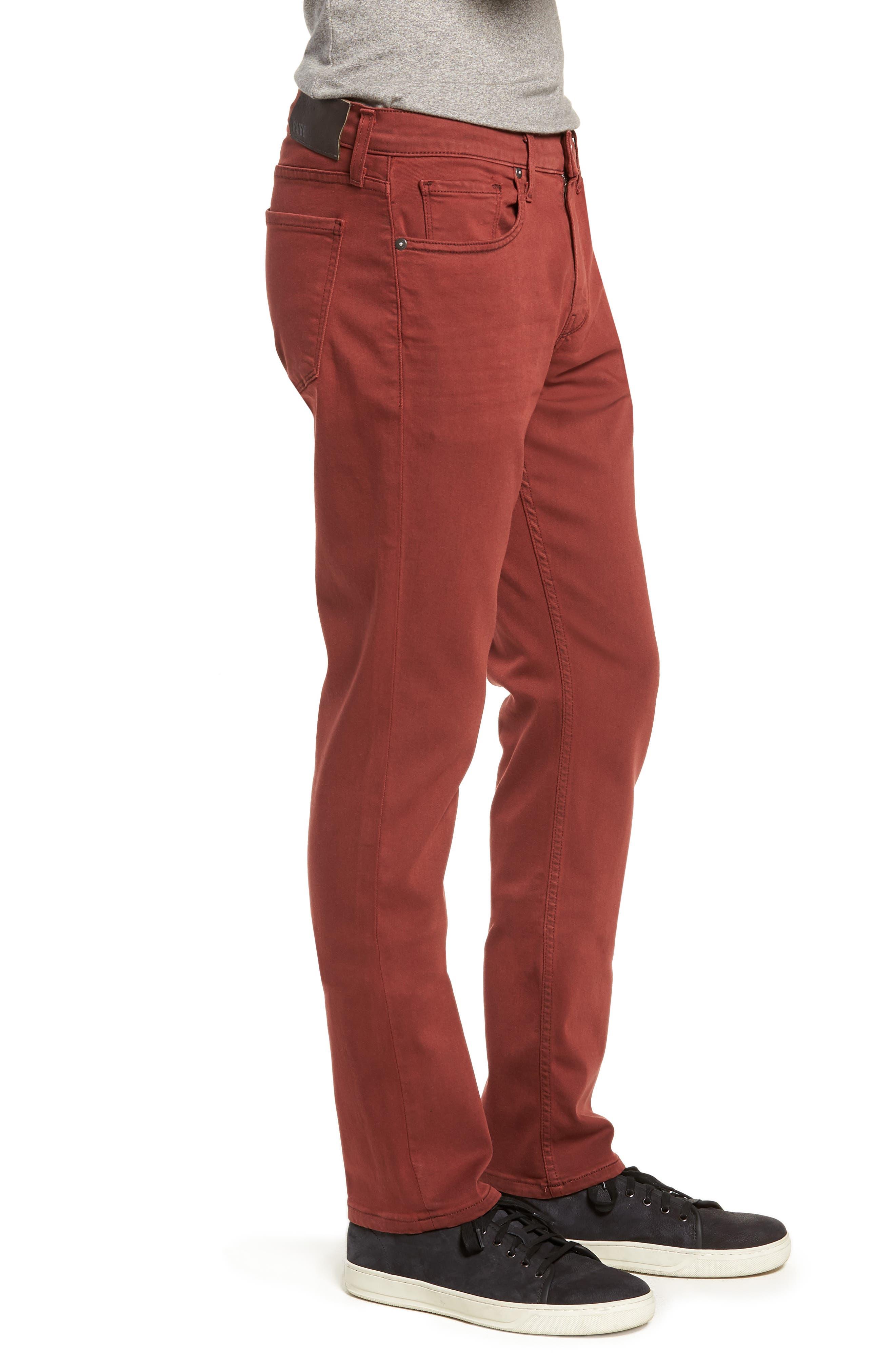Transcend - Federal Slim Straight Leg Jeans,                             Alternate thumbnail 3, color,                             VINTAGE PERSIMMON