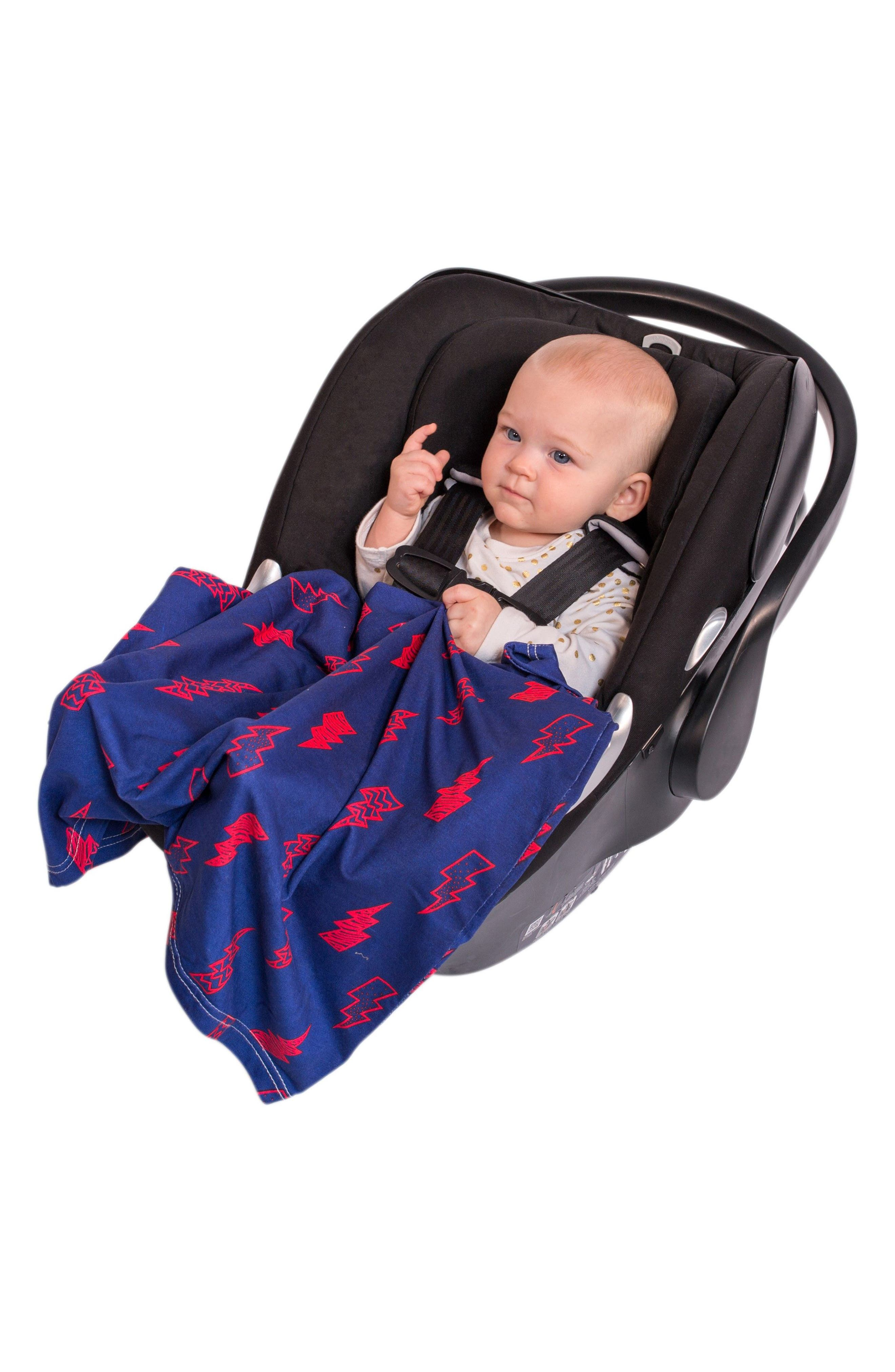 5-in-1 Car Seat Cover,                             Alternate thumbnail 6, color,                             BLUE/ RED LIGHTNING BOLTS