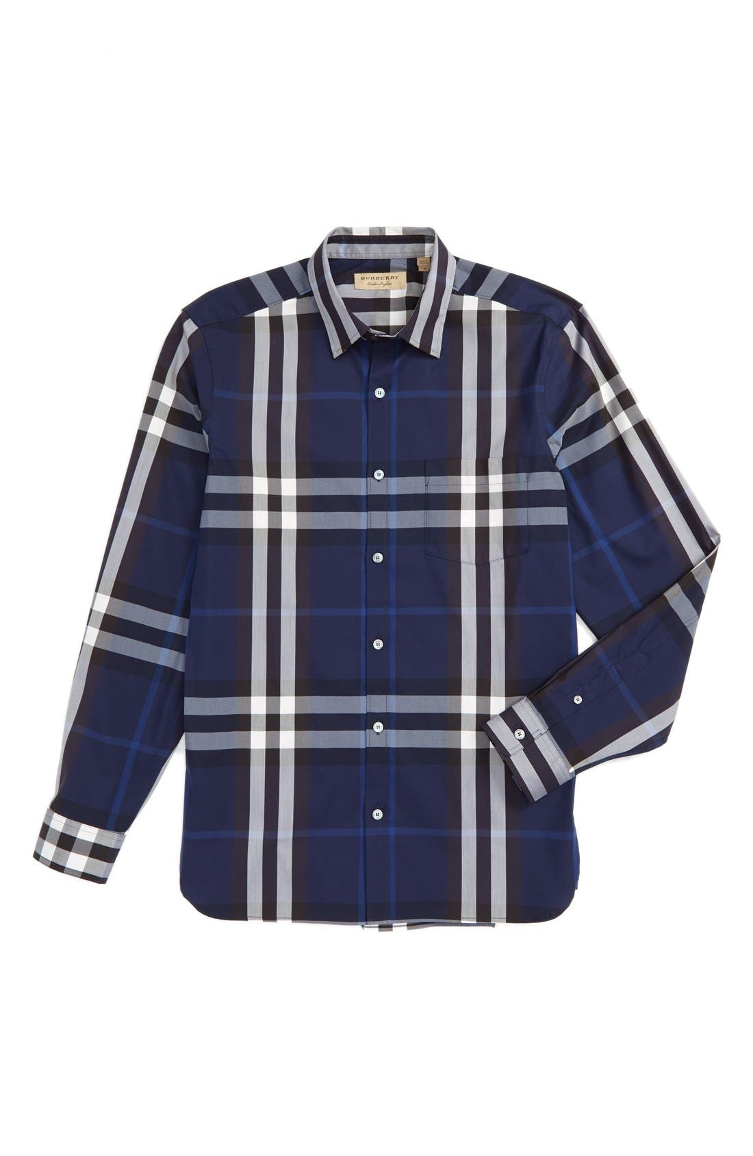 Nelson Check Sport Shirt,                             Alternate thumbnail 90, color,