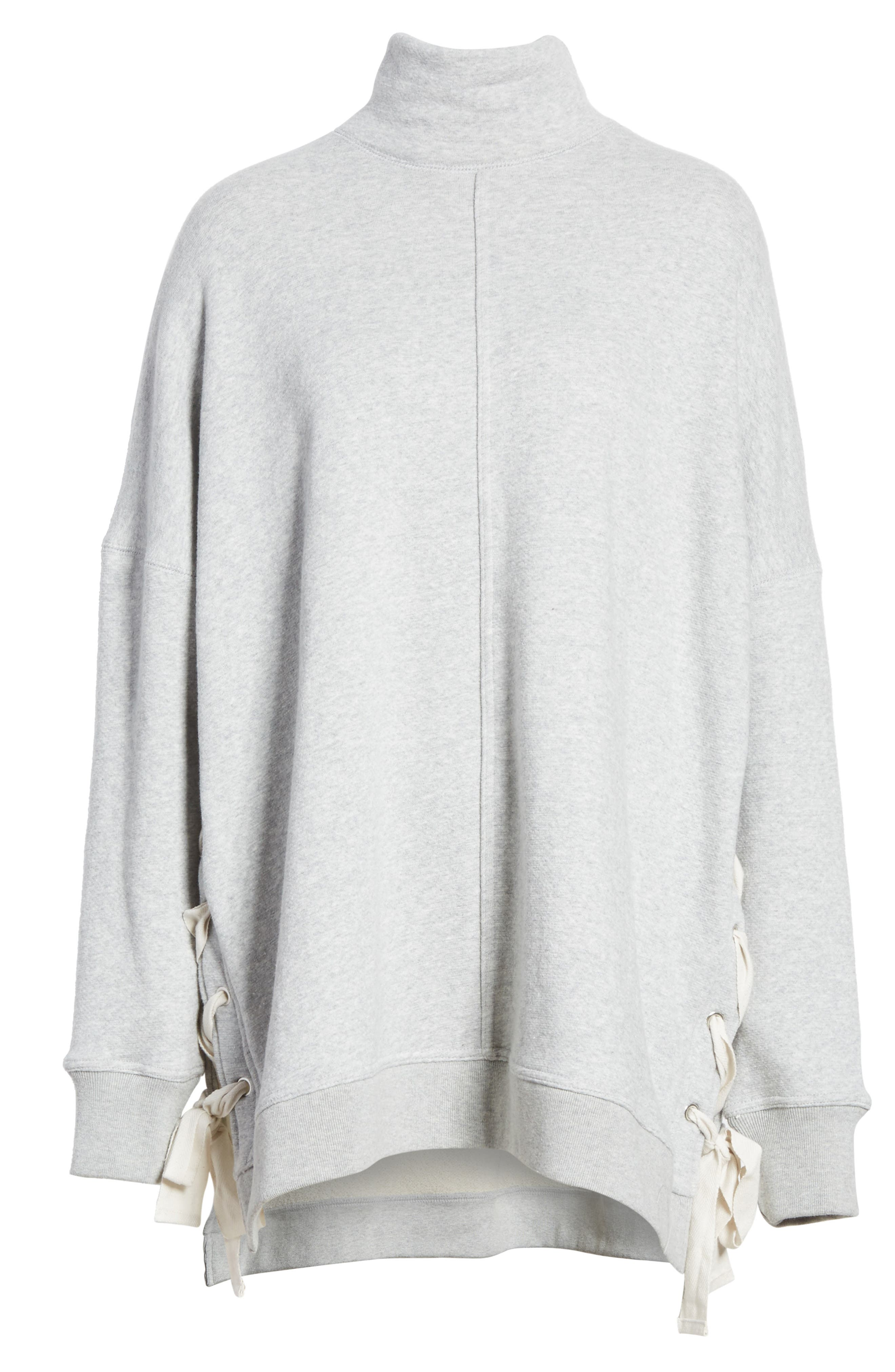 So Plush Lace-Up Pullover,                             Alternate thumbnail 6, color,                             GREY