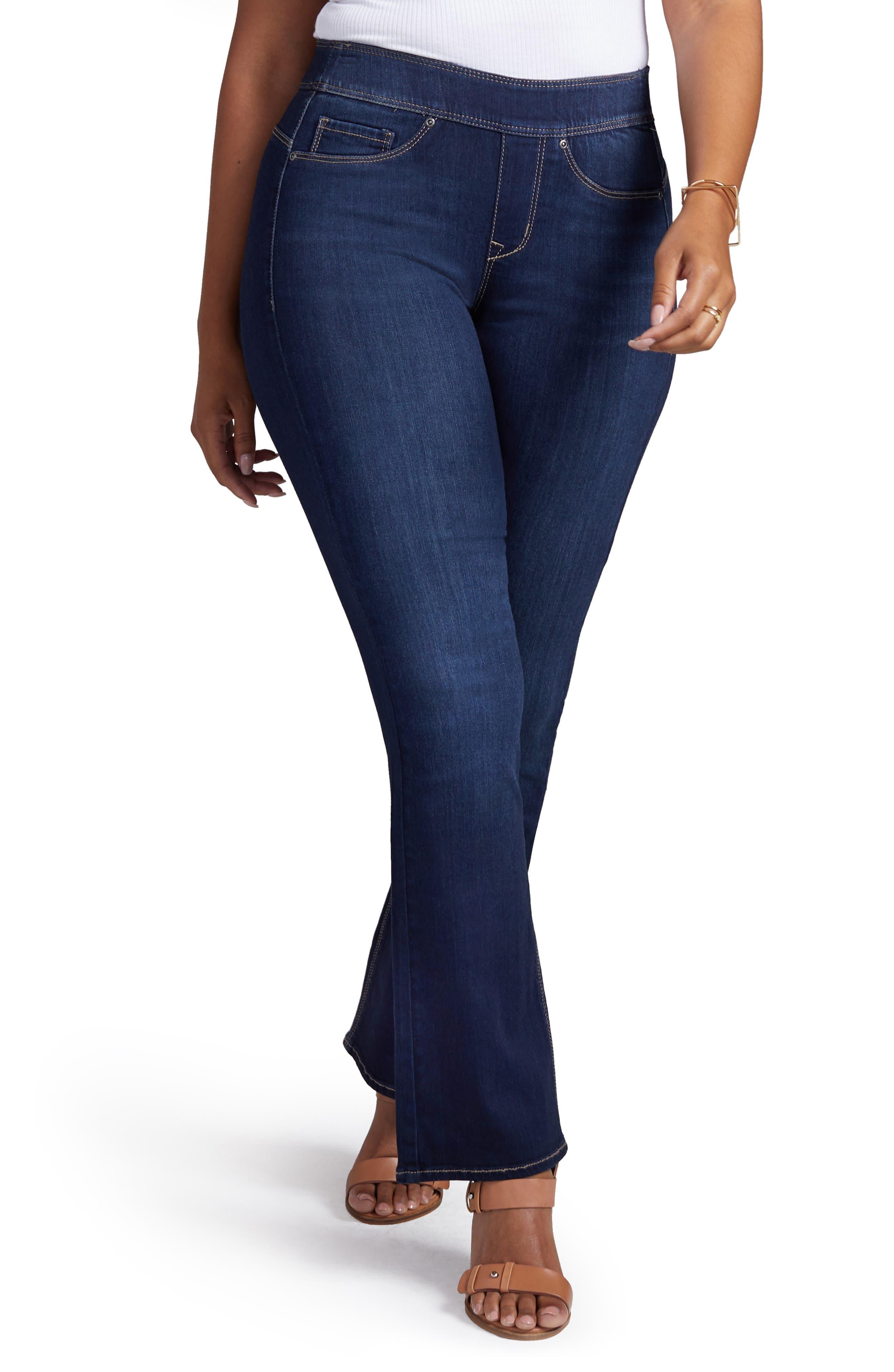 Pull-On Skinny Bootcut Jeans,                             Main thumbnail 1, color,                             VENUS