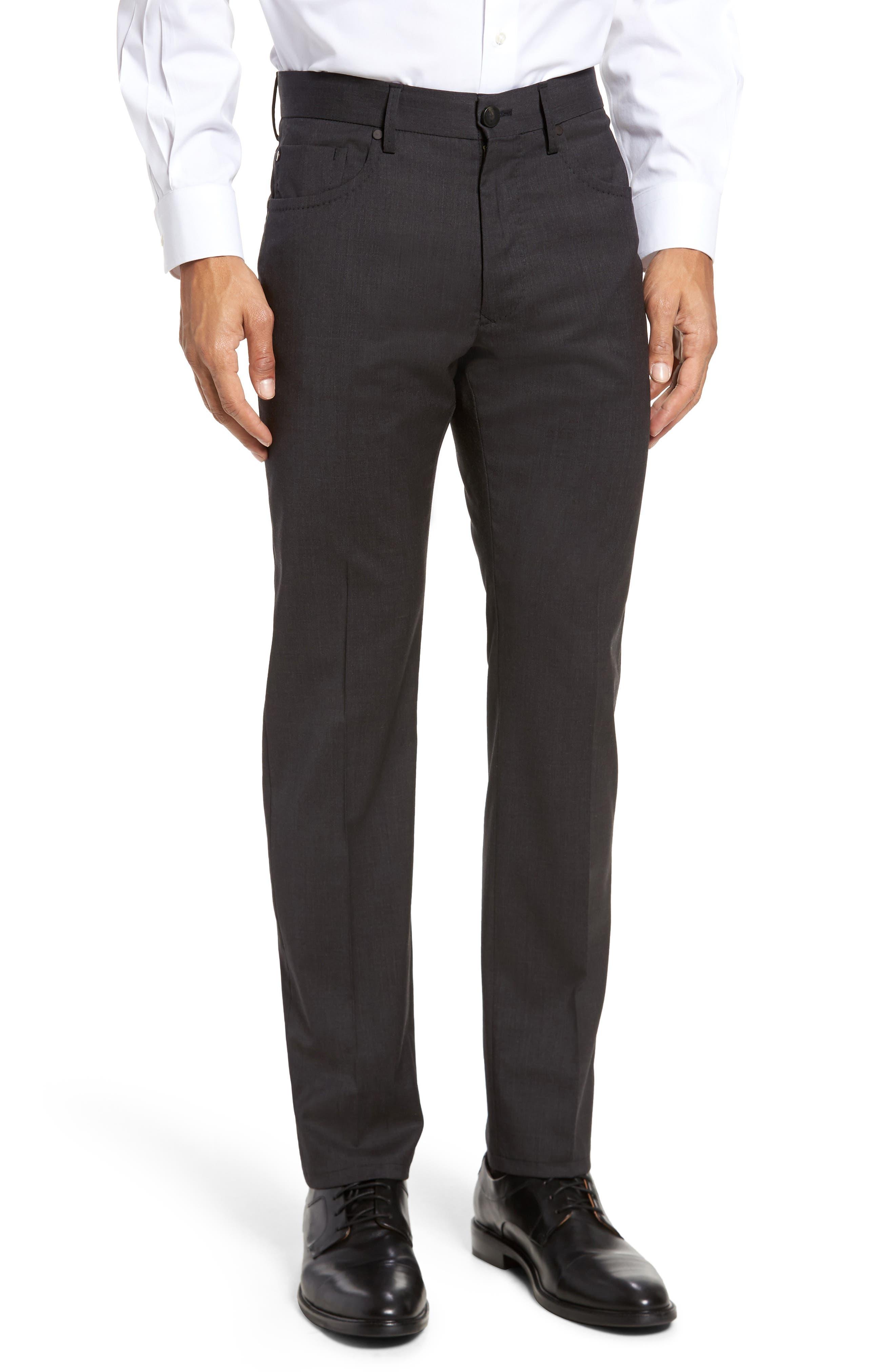 Five-Pocket Stretch Wool Pants,                         Main,                         color, 015