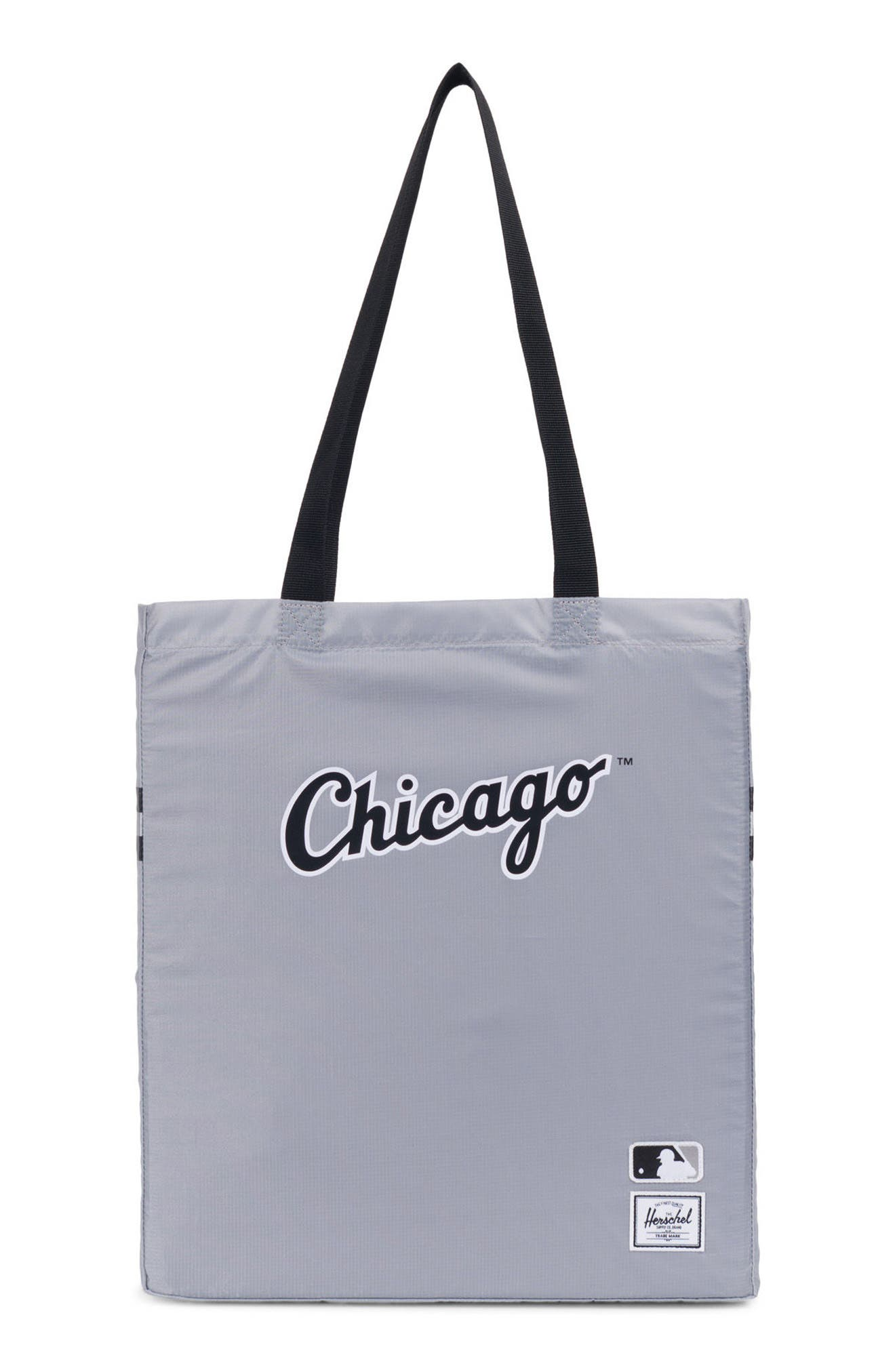 Packable - MLB American League Tote Bag,                         Main,                         color, CHICAGO WHITE SOX