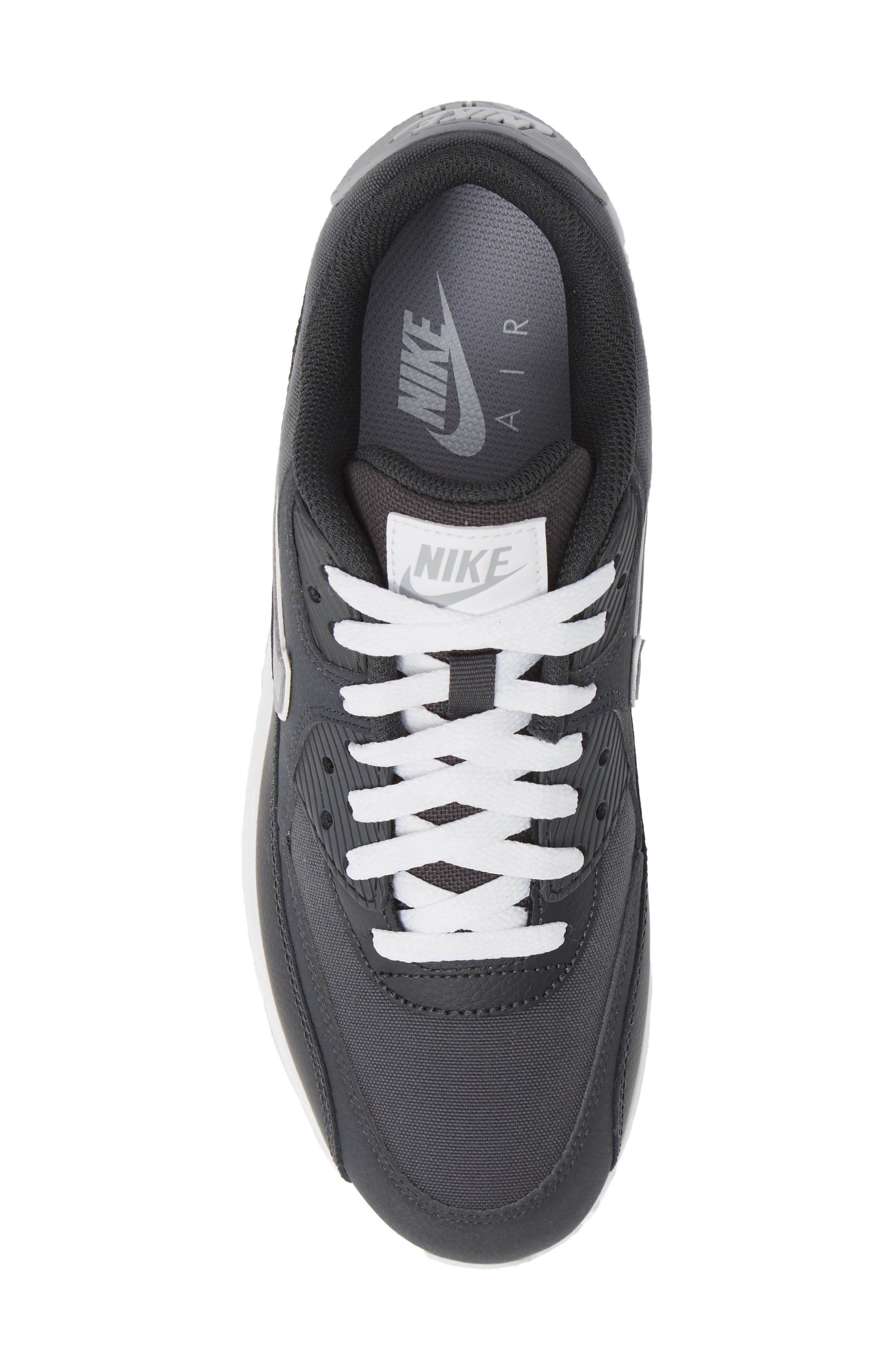 Air Max 90 Essential Sneaker,                             Alternate thumbnail 5, color,                             ANTHRACITE/ WOLF GREY/ WHITE