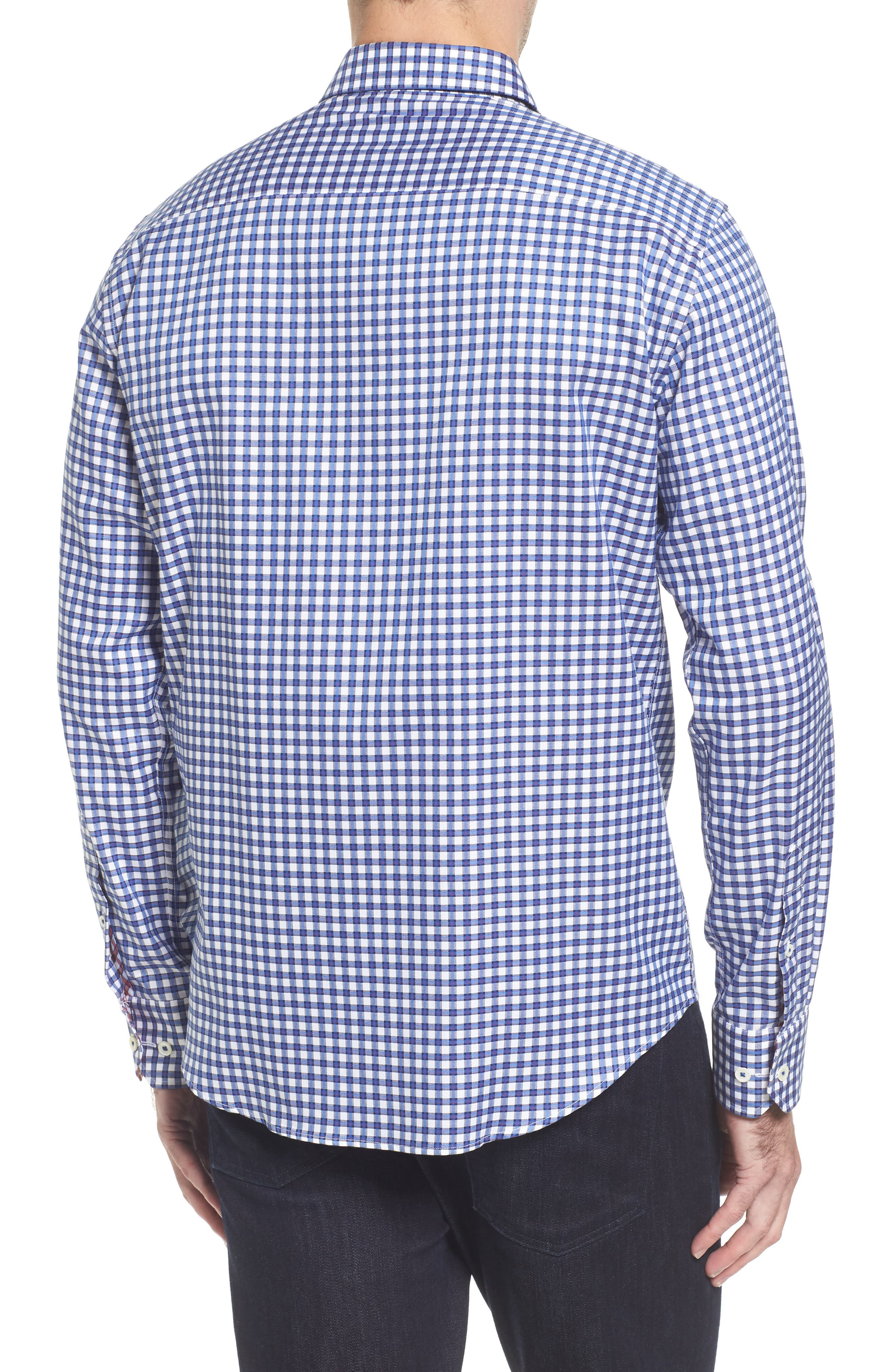 Slim Fit Check Sport Shirt,                             Alternate thumbnail 2, color,                             422