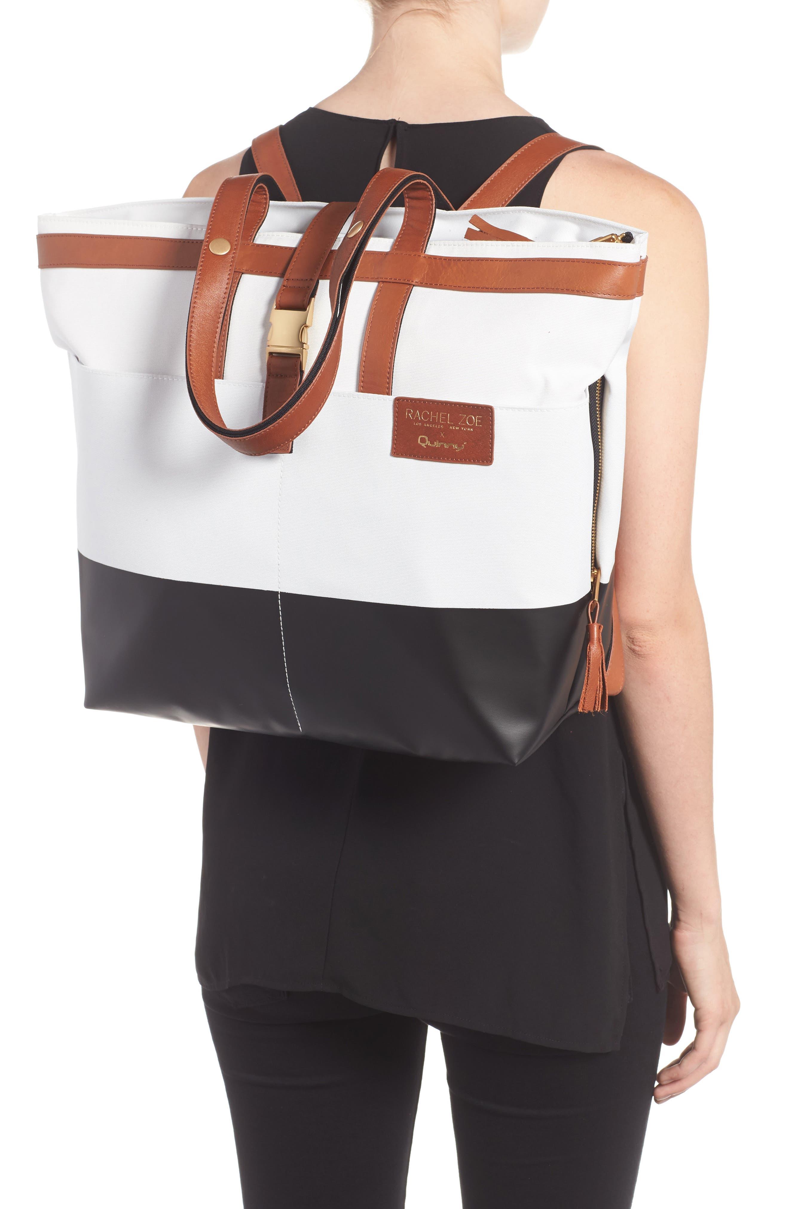 x Rachel Zoe 'Jet Set' Canvas Diaper Bag,                             Alternate thumbnail 2, color,                             100