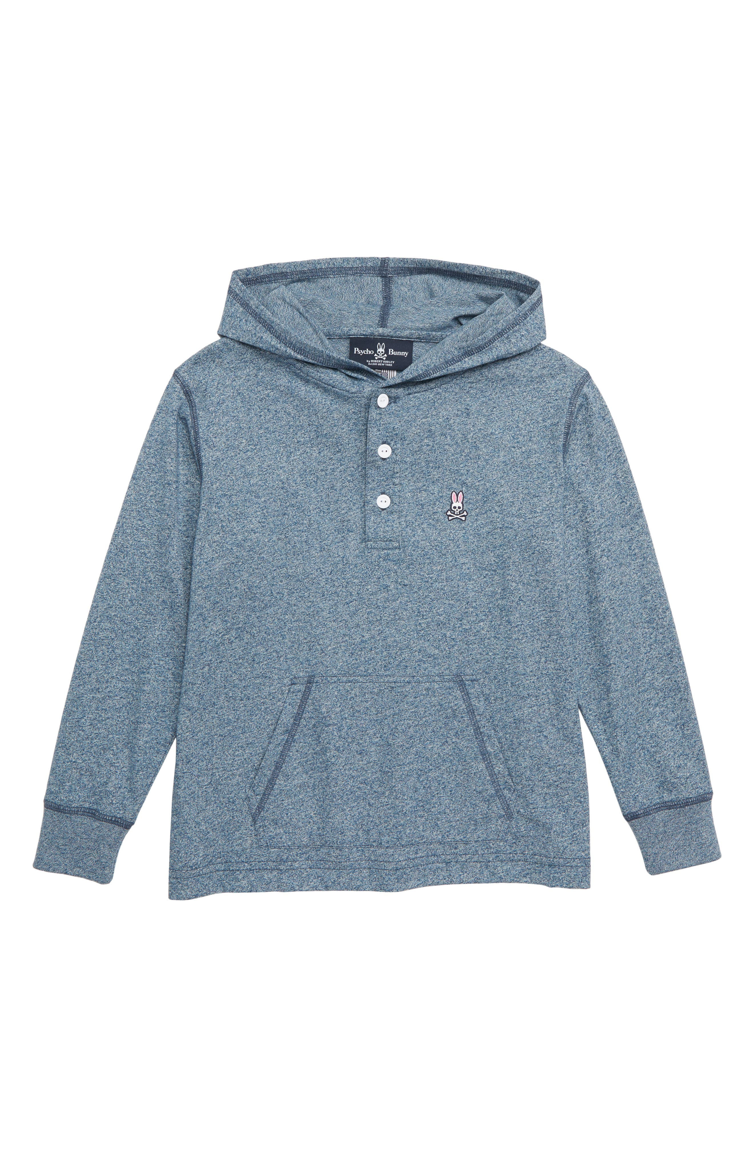 Hooded Henley,                             Main thumbnail 1, color,                             SALT AND PEPPER