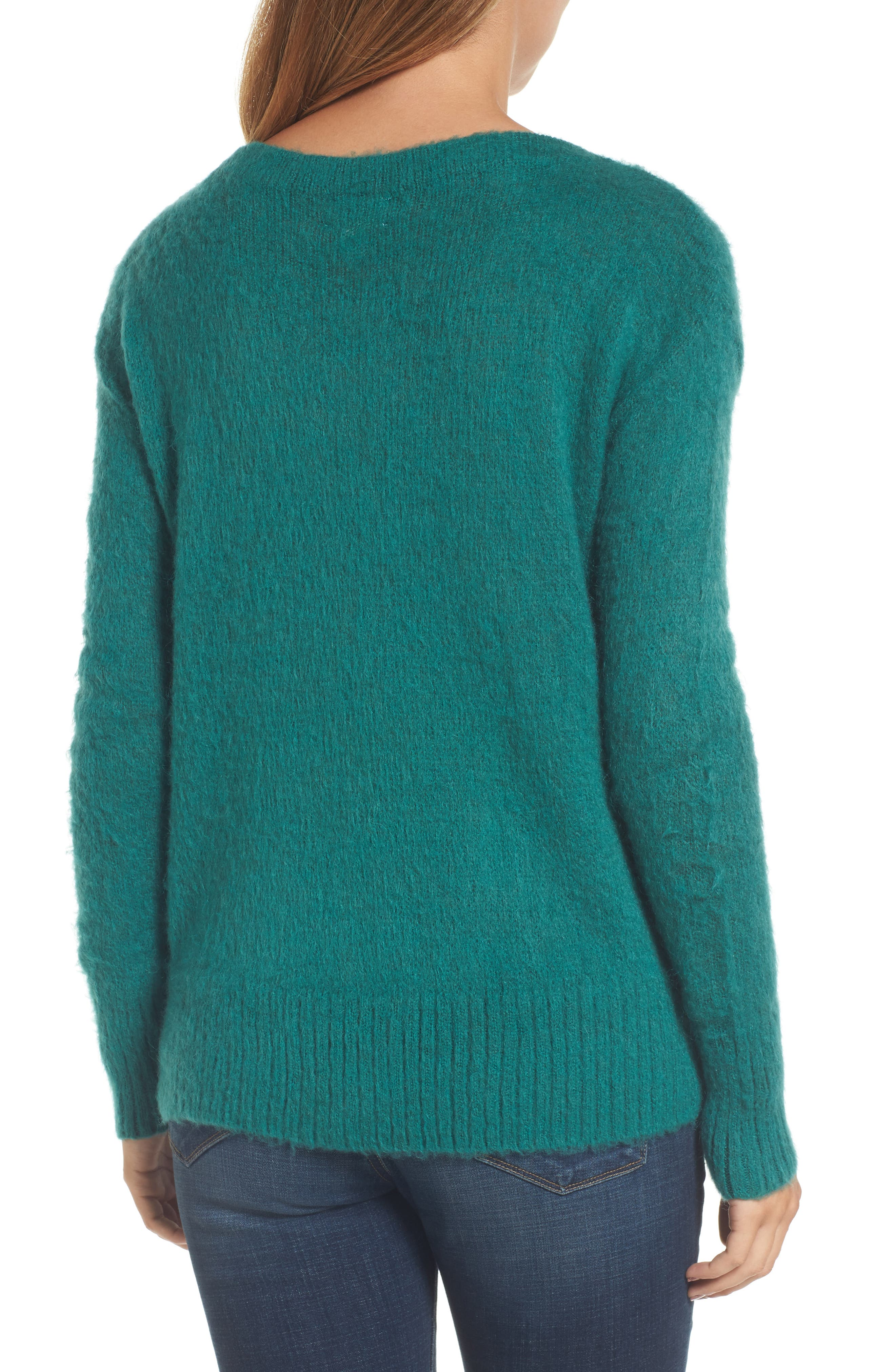 Long Sleeve Brushed Sweater,                             Alternate thumbnail 9, color,