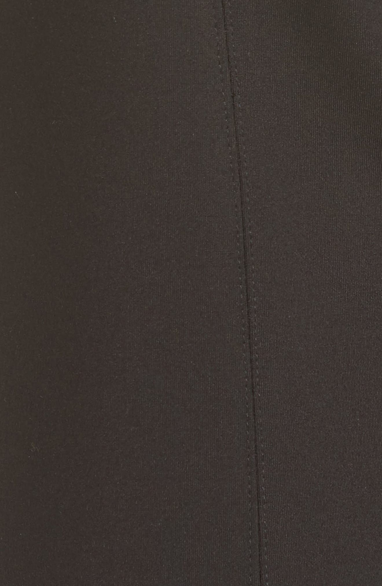 Flared Crop Ponte Pants,                             Alternate thumbnail 6, color,                             BLACK