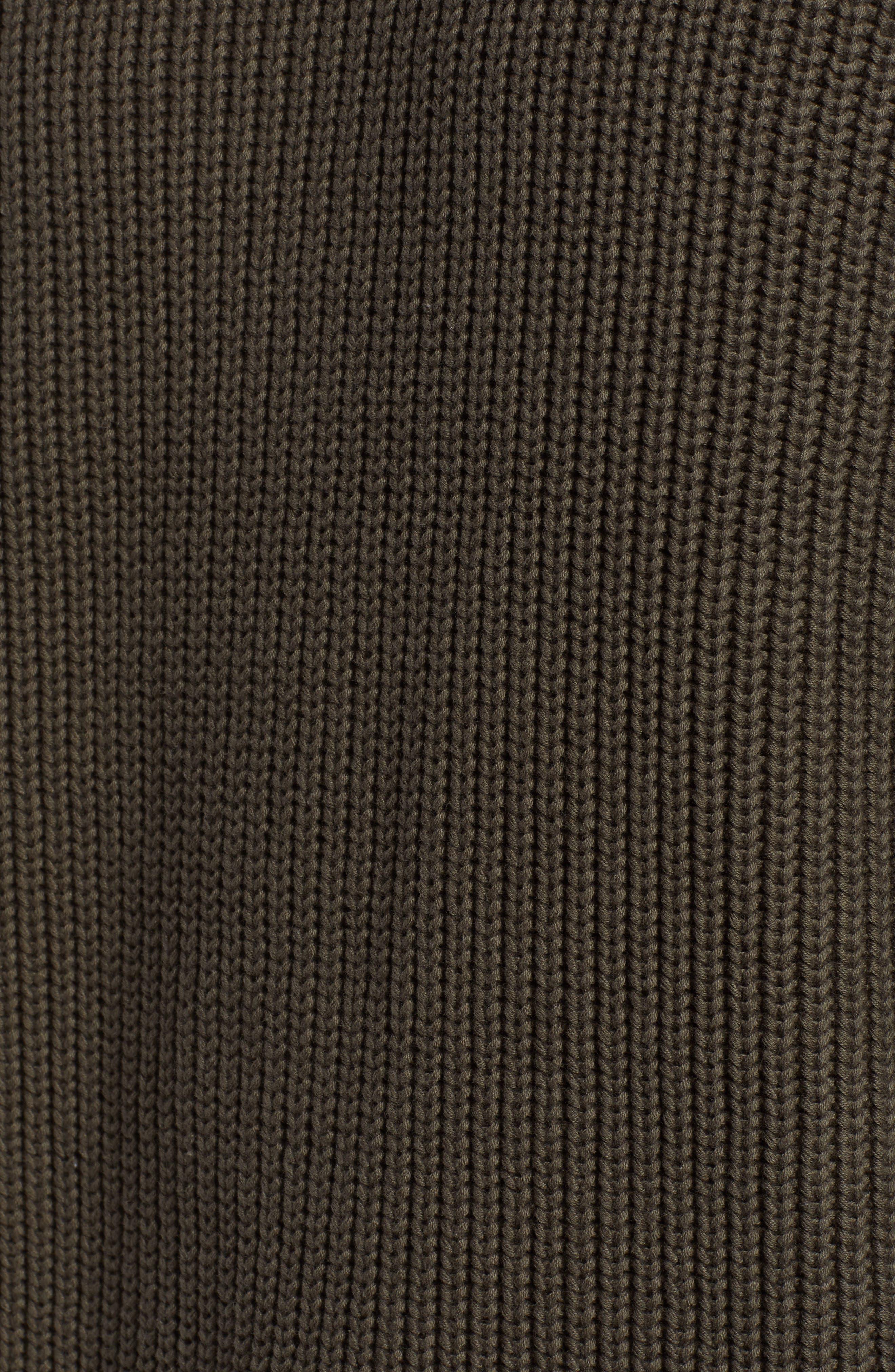 Jett Slim Fit Crewneck Sweater,                             Alternate thumbnail 5, color,                             OAK GROVE/ BLACK