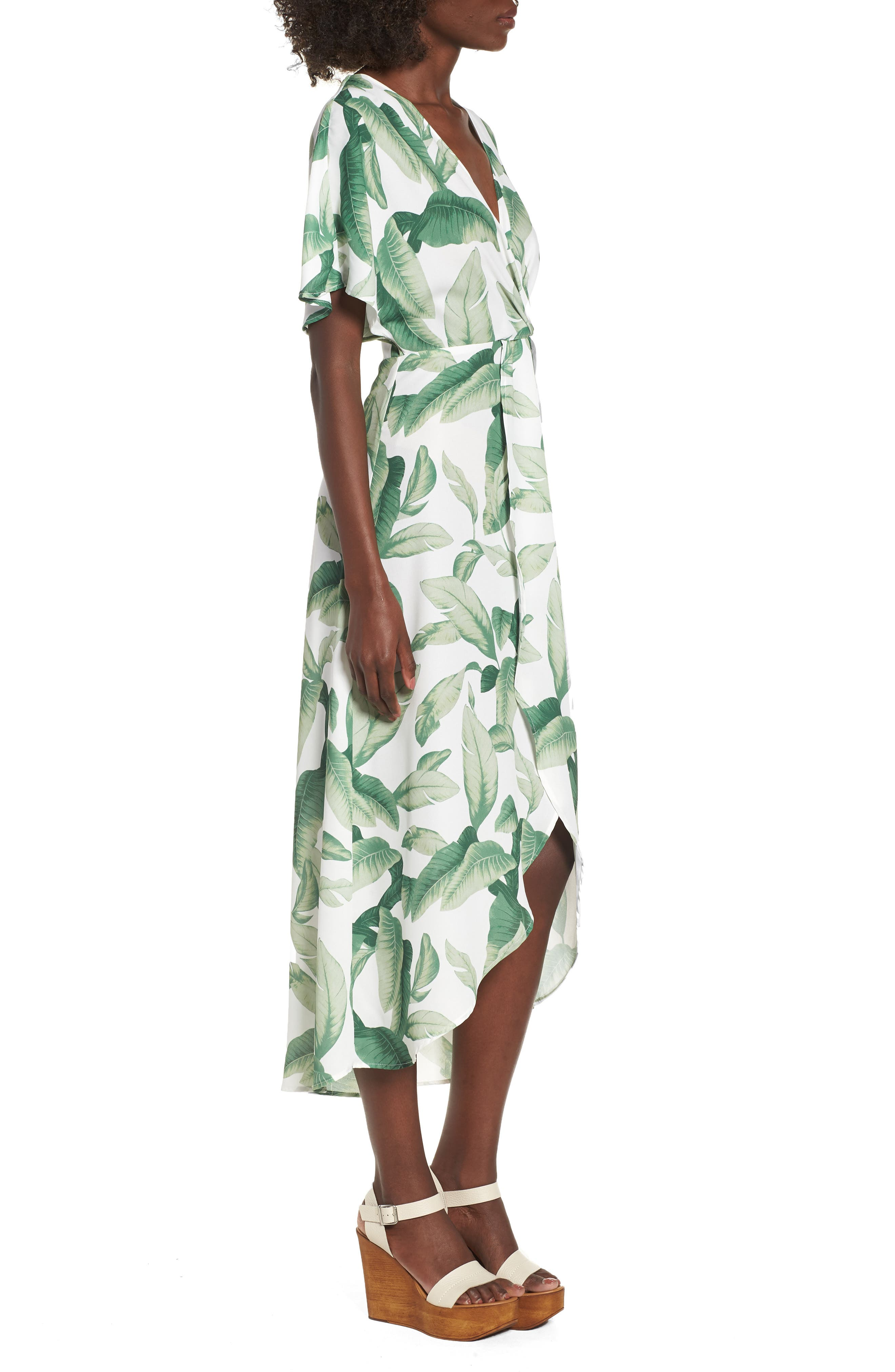 Print Maxi Dress,                             Alternate thumbnail 3, color,                             300