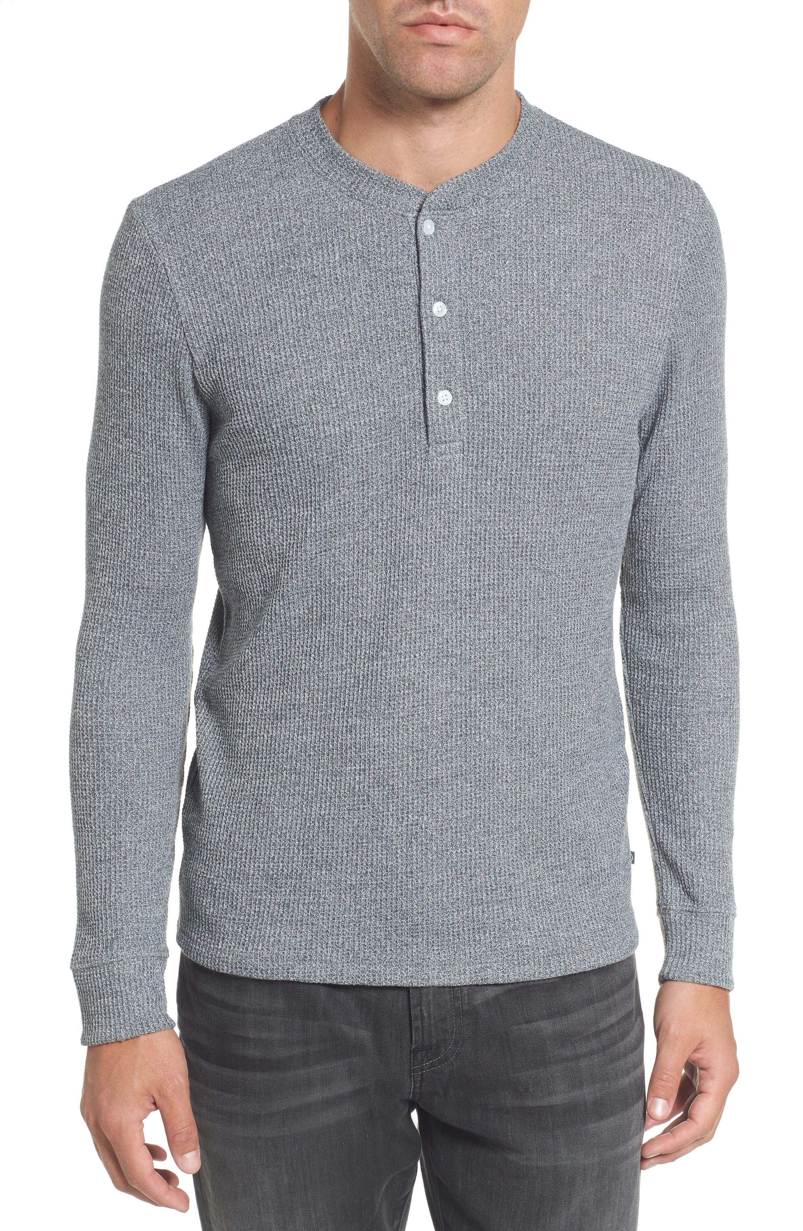 Slim Fit Long Sleeve Henley Shirt,                         Main,                         color, 200