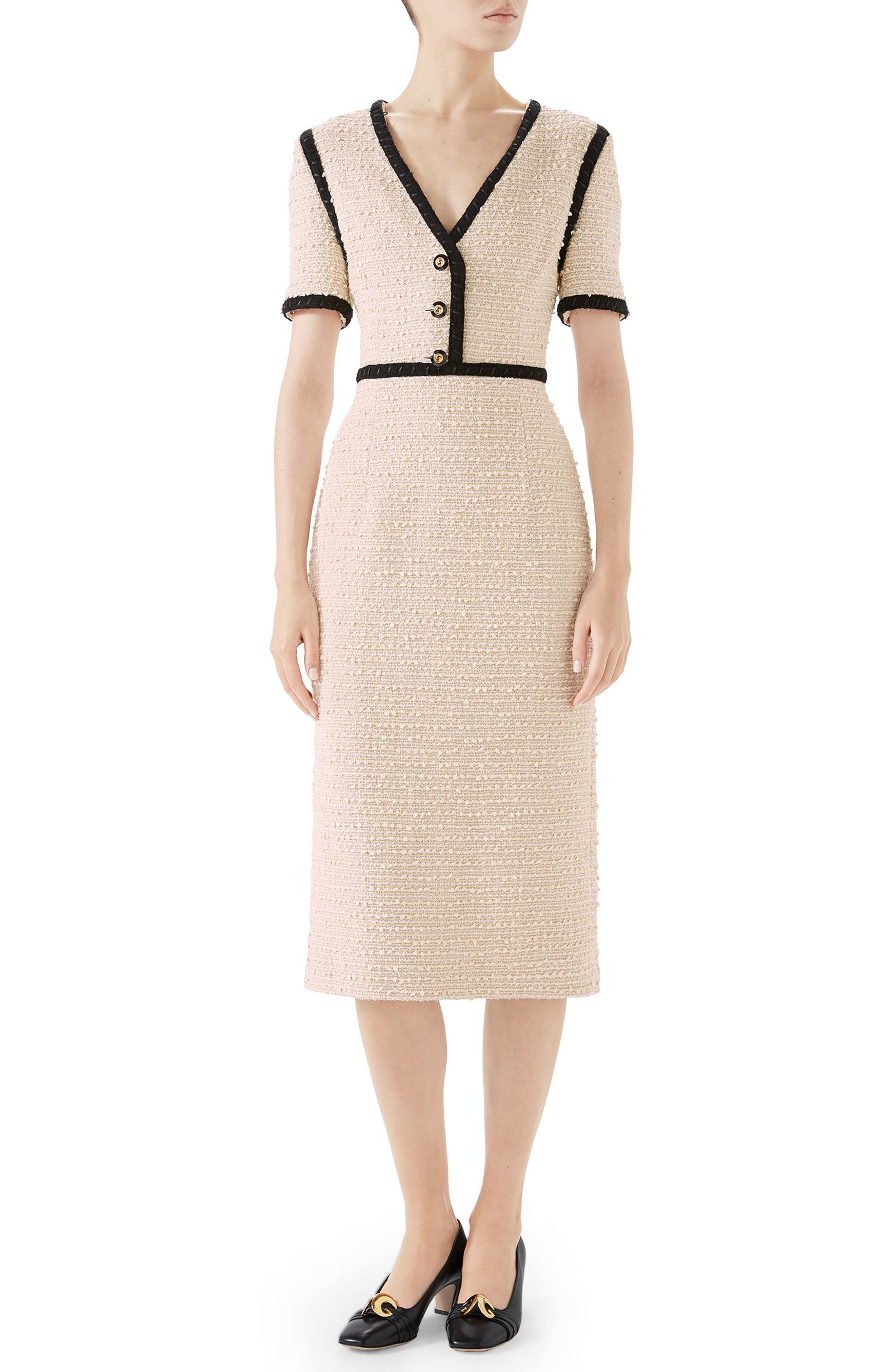 b05cc884e81 Gucci Boucle Tweed Dress