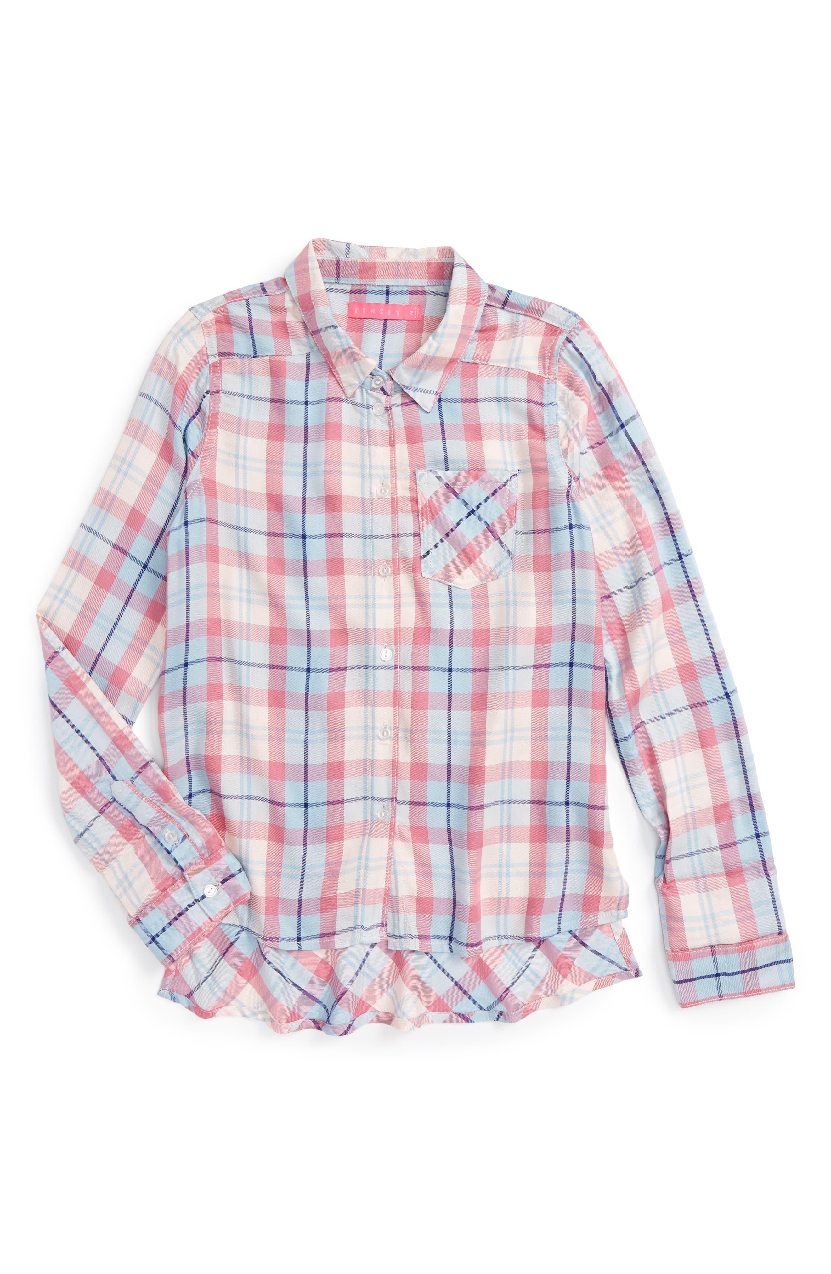 Fire Plaid Woven Shirt,                             Main thumbnail 2, color,