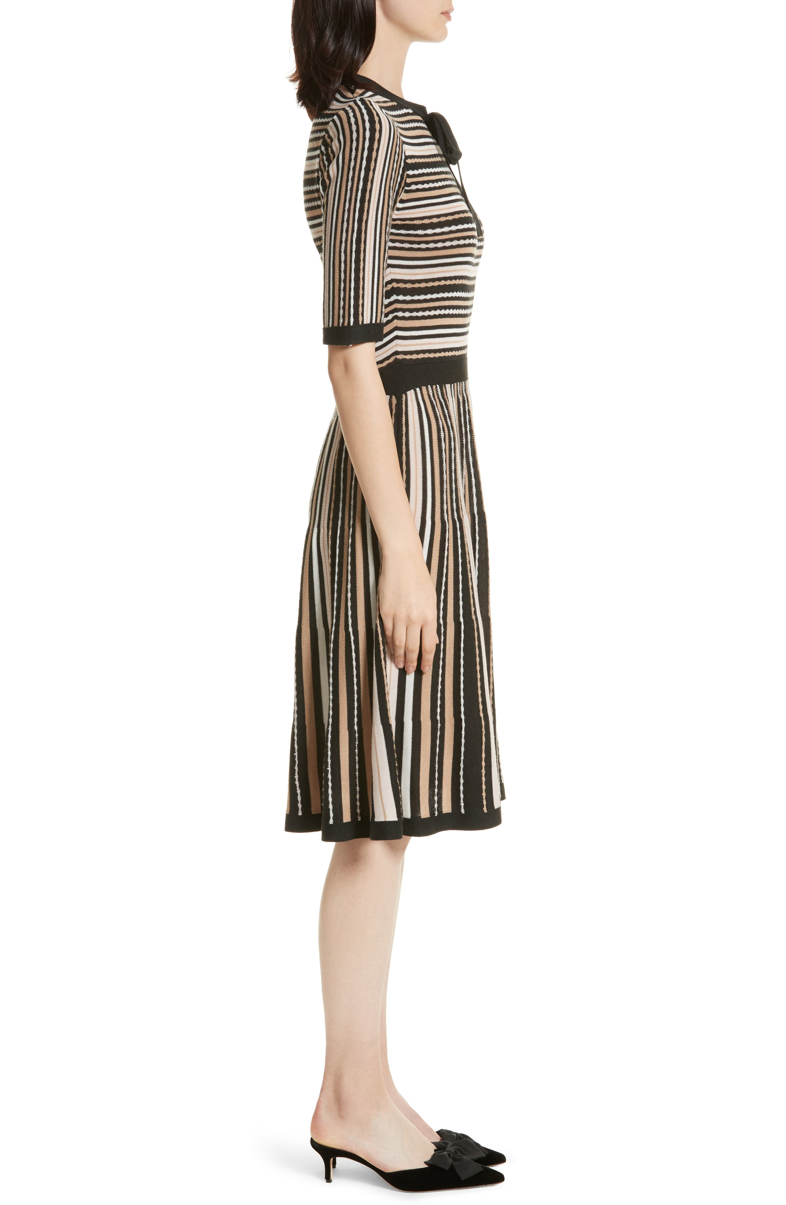 stripe sweater dress,                             Alternate thumbnail 3, color,                             677