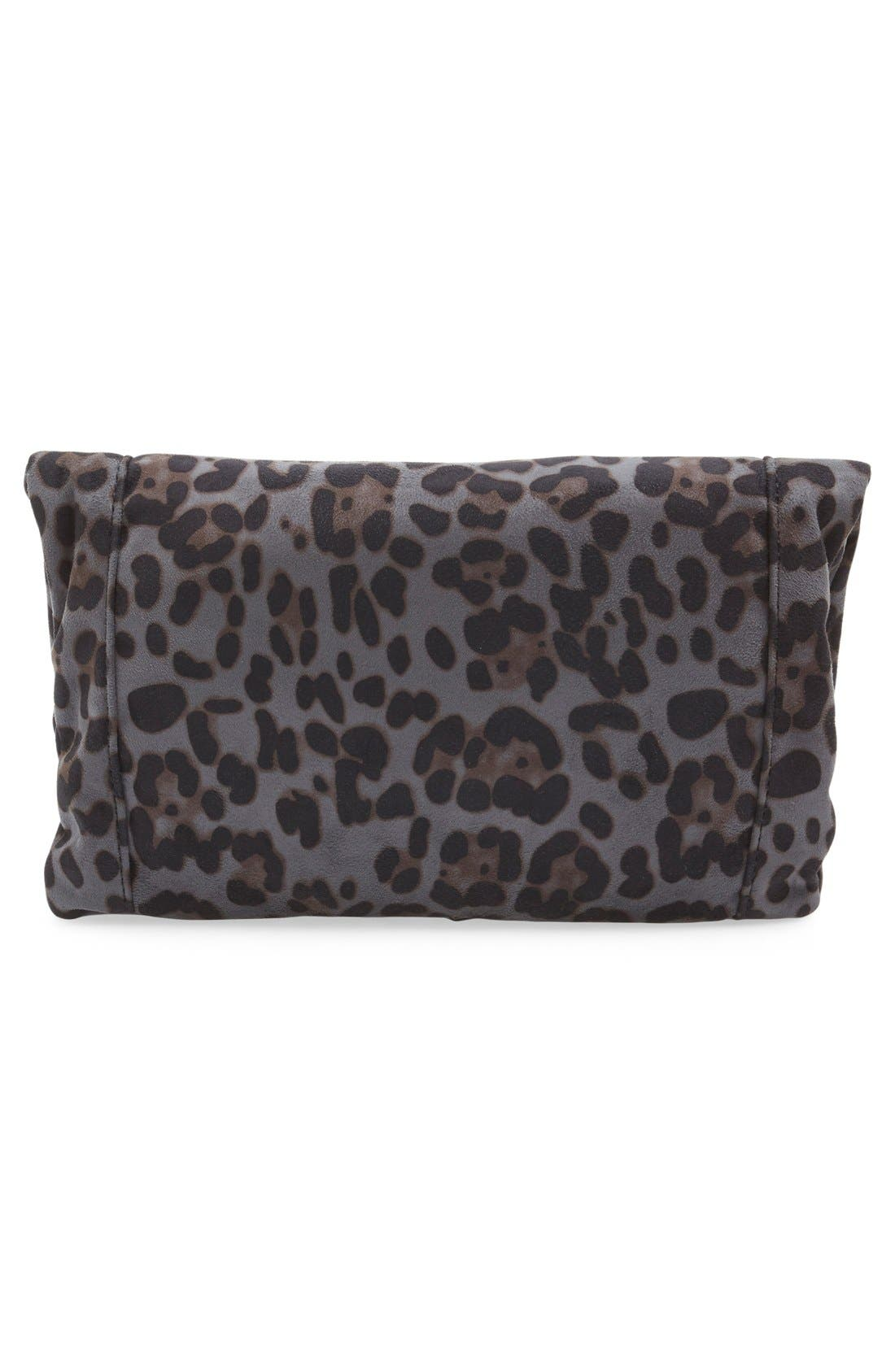 'Tasia' Print Foldover Clutch,                             Alternate thumbnail 6, color,                             020