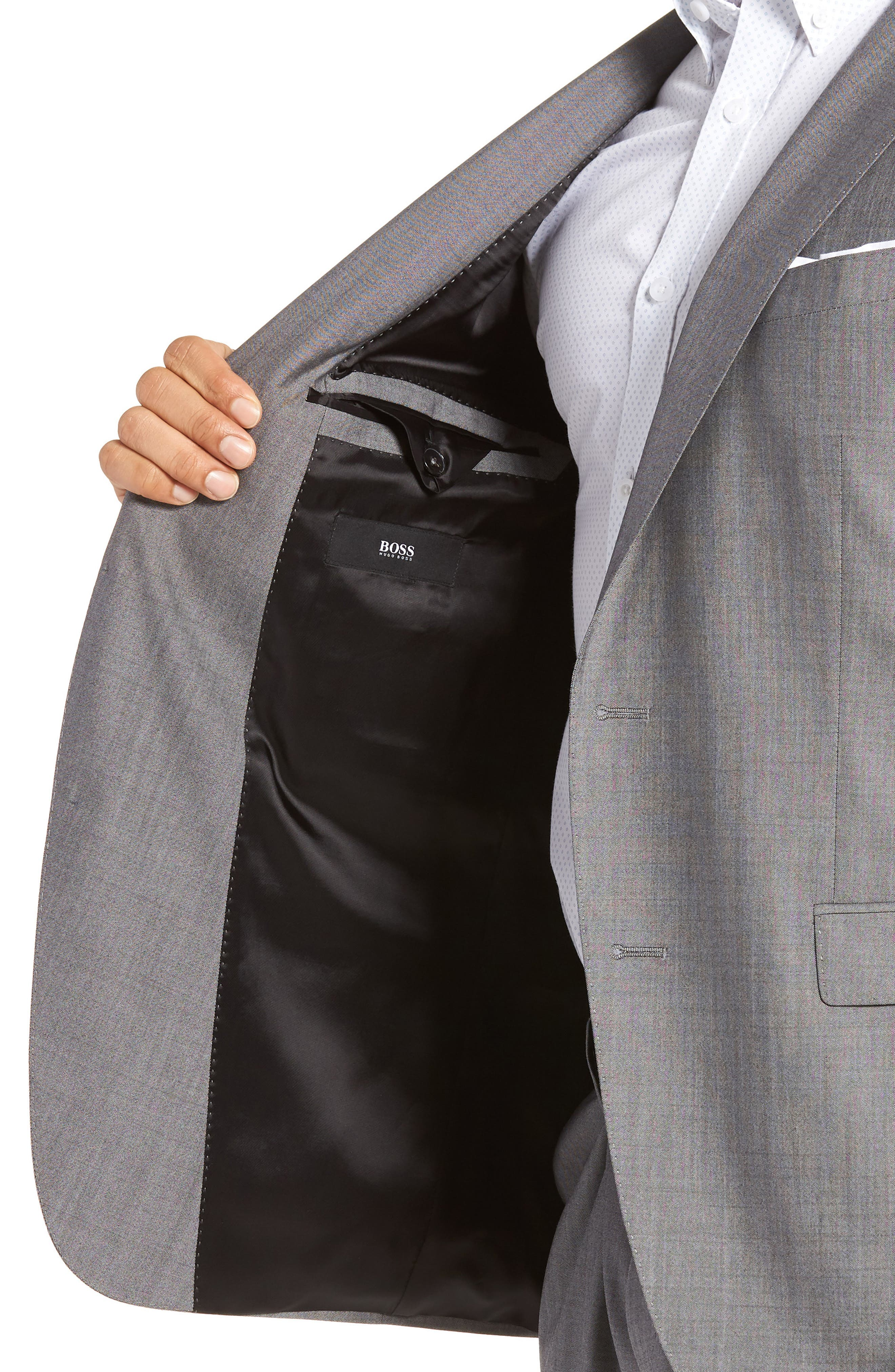 Novan/Ben Trim Fit Solid Wool Suit,                             Alternate thumbnail 4, color,                             069