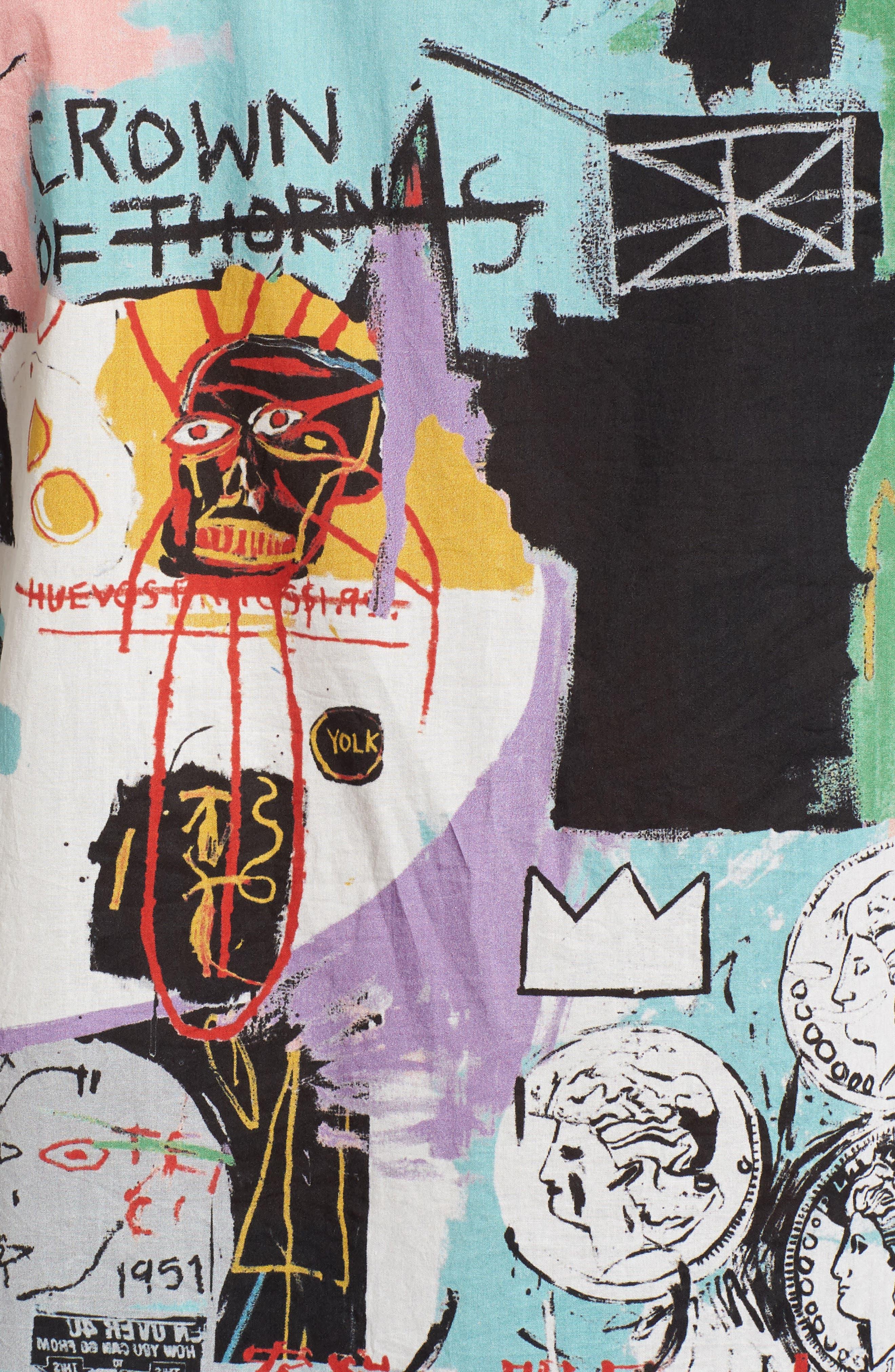 x Warhol Factory Shirt,                             Alternate thumbnail 5, color,                             001