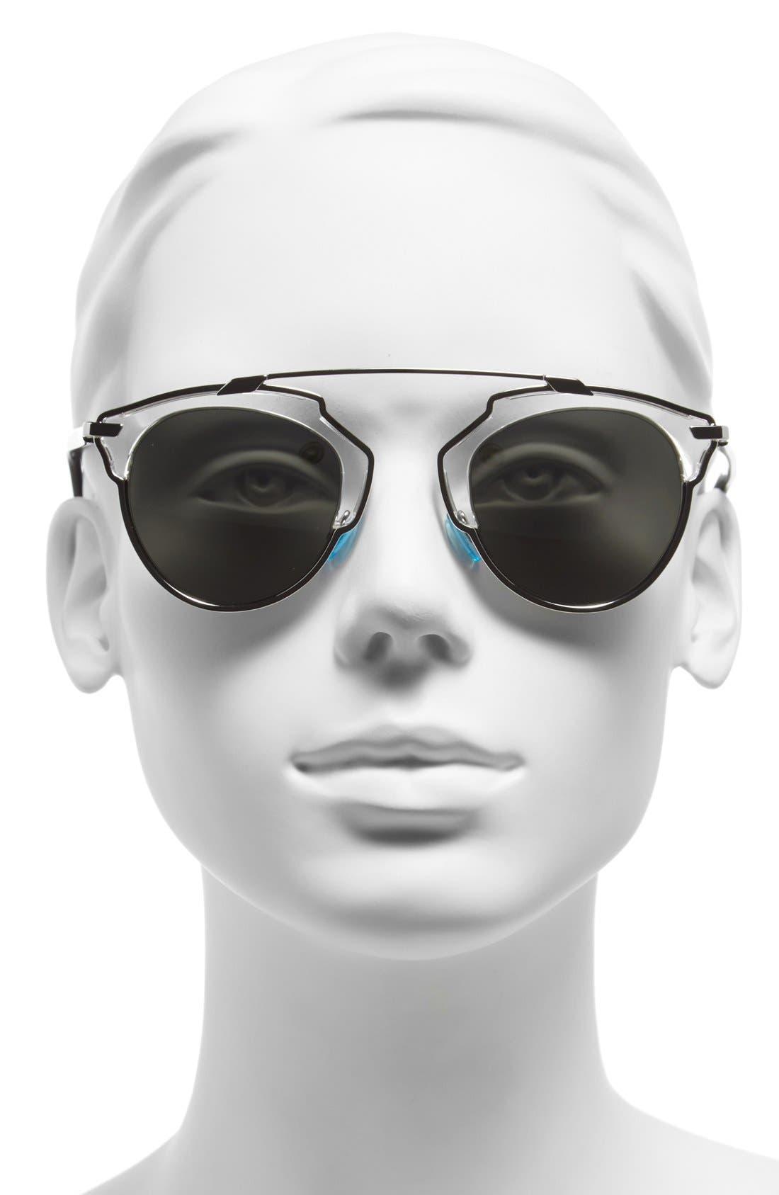 So Real 48mm Brow Bar Sunglasses,                             Alternate thumbnail 34, color,