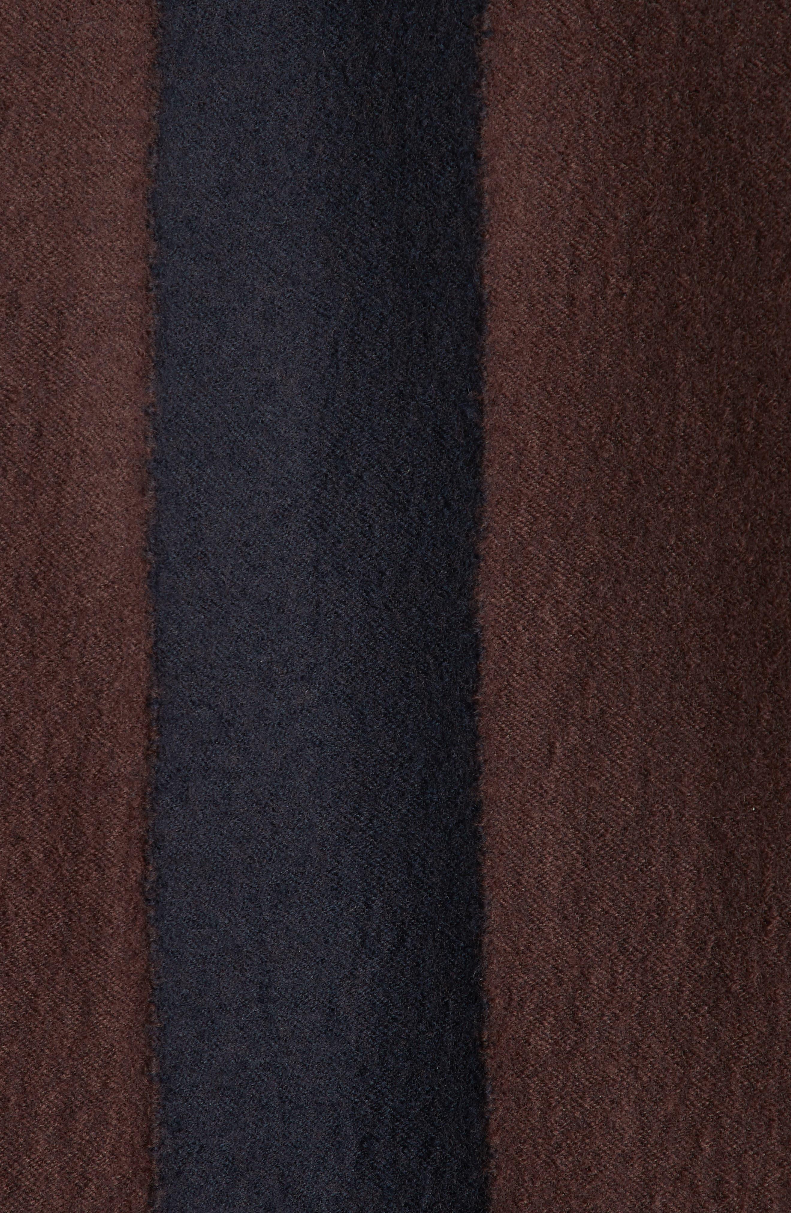 Stripe Wool Blend Jacket,                             Alternate thumbnail 6, color,                             001