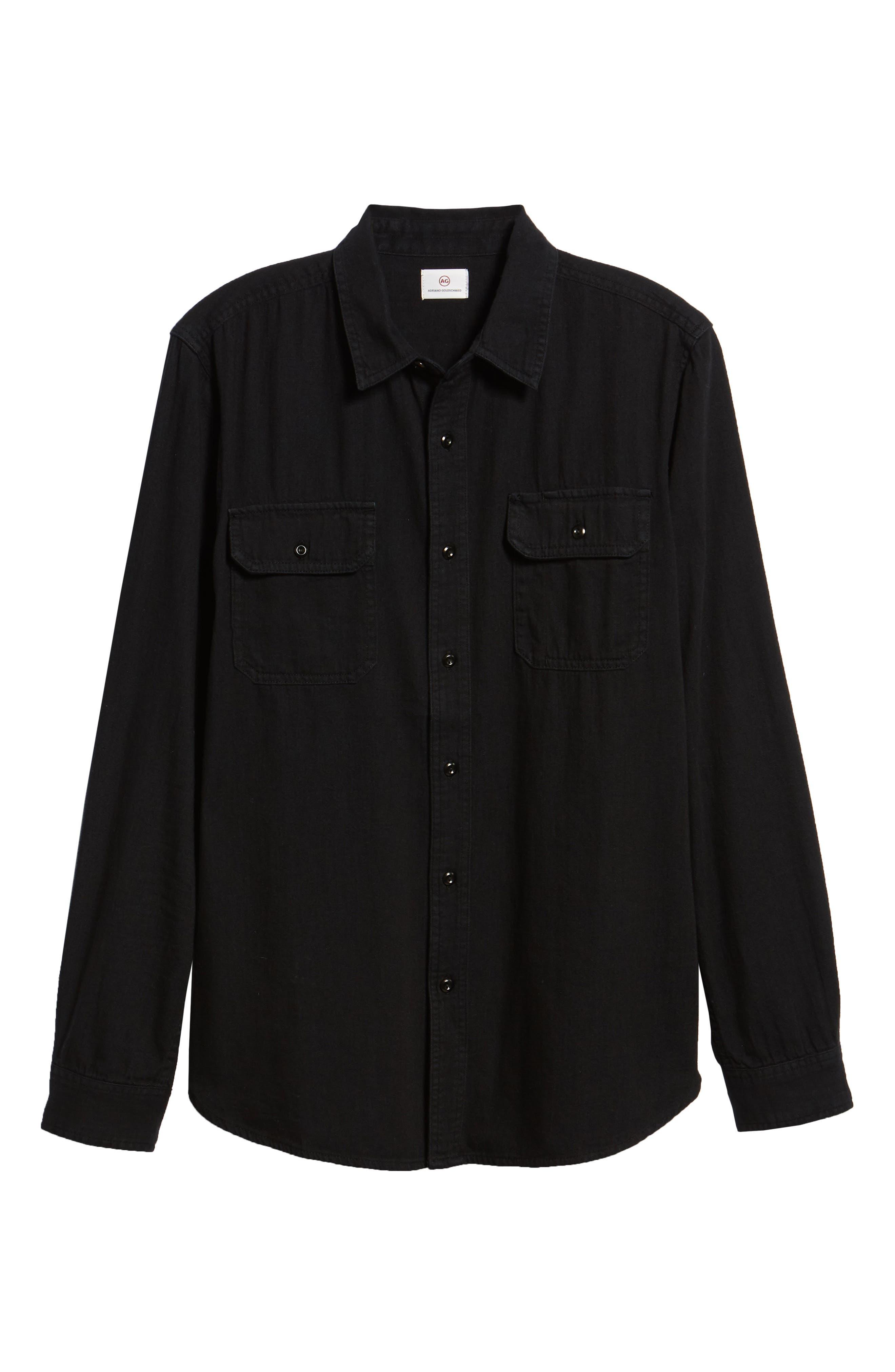 Benning Slim Fit Utility Shirt,                             Alternate thumbnail 5, color,                             PIPELINE