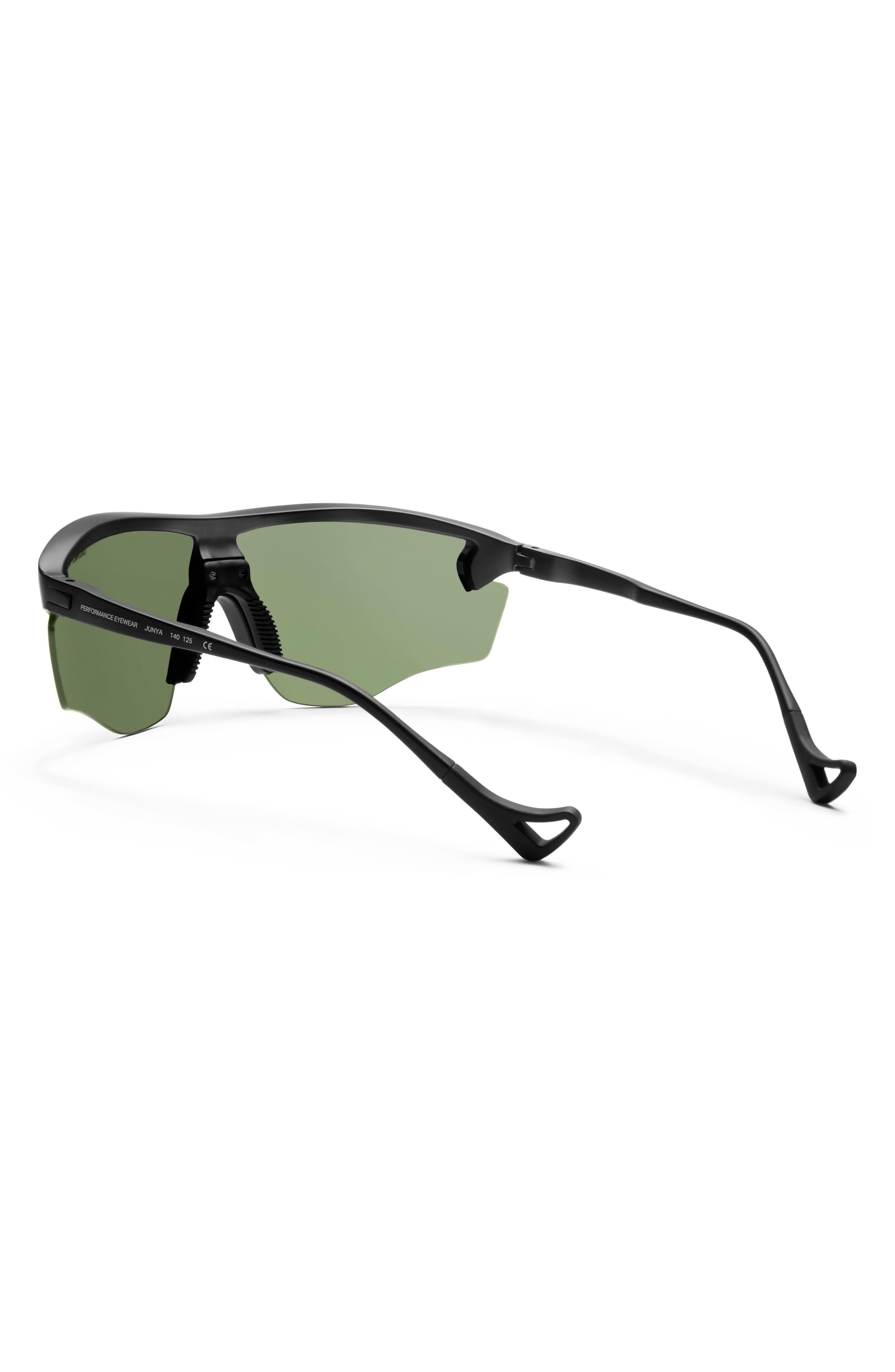 Junya 70mm Racing Sunglasses,                             Alternate thumbnail 3, color,                             BLACK/ SKY