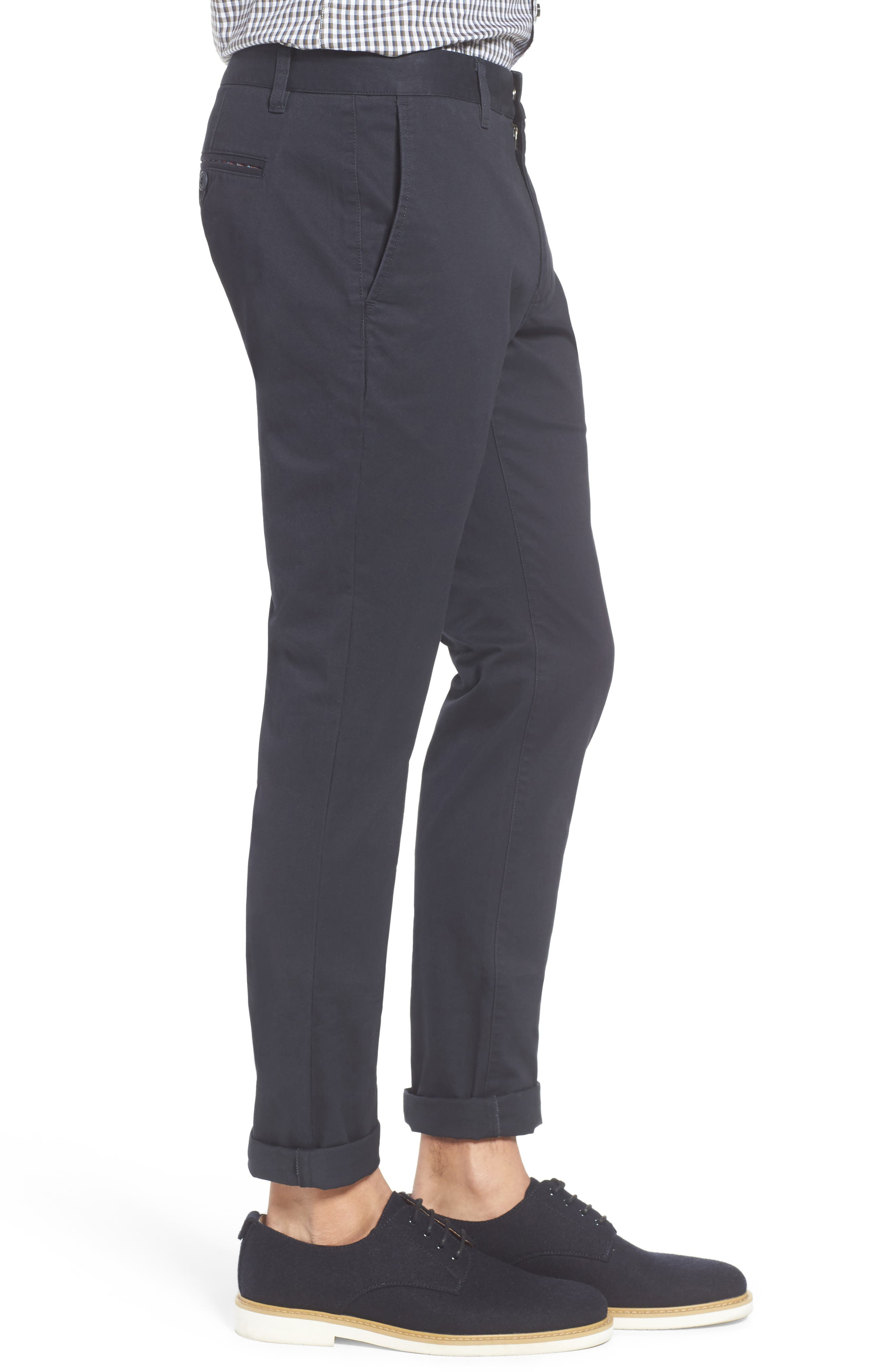 Tailored Fit Washed Stretch Cotton Chinos,                             Alternate thumbnail 102, color,